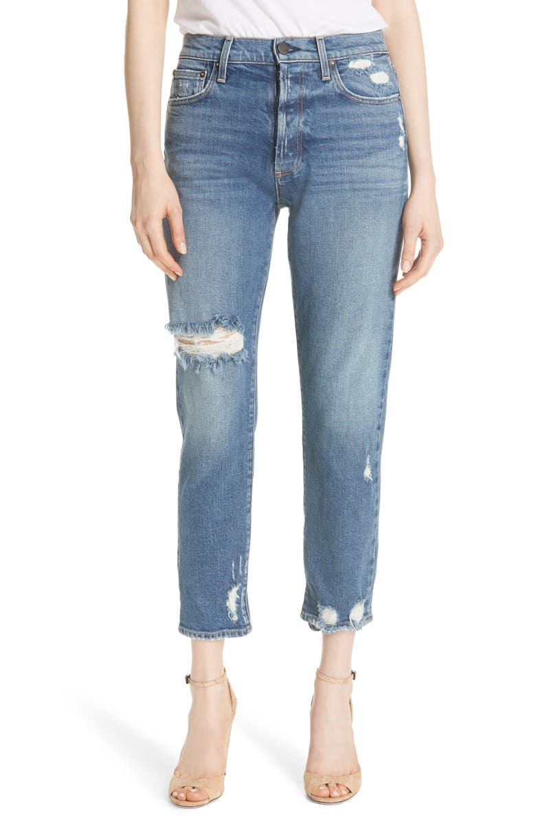 AO.LA Amazing Ripped Slim Girlfriend Jeans
