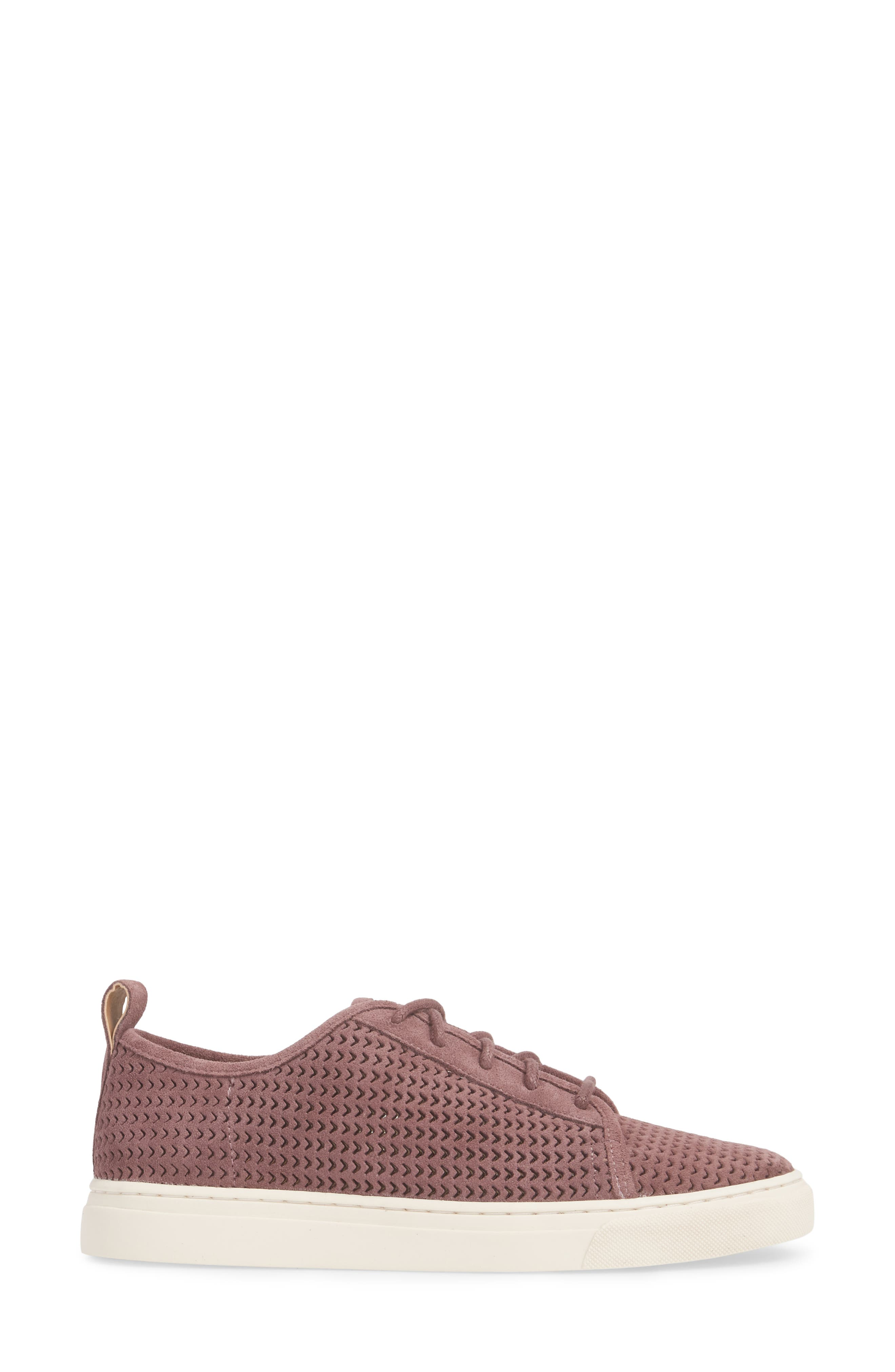 Lawove Sneaker,                             Alternate thumbnail 3, color,                             Berry Smooth Suede