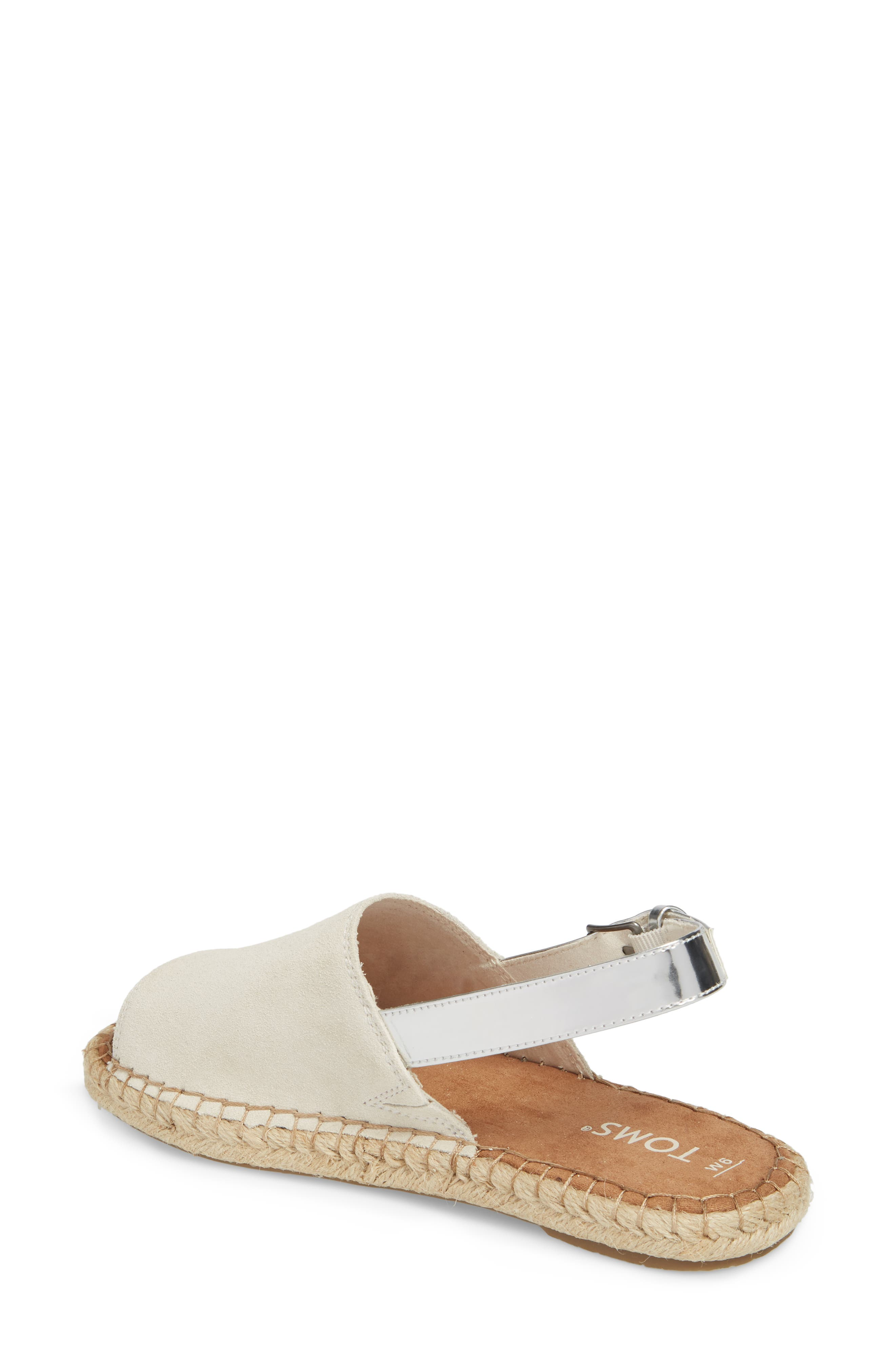 Clara Slingback Sandal,                             Alternate thumbnail 2, color,                             Birch Suede