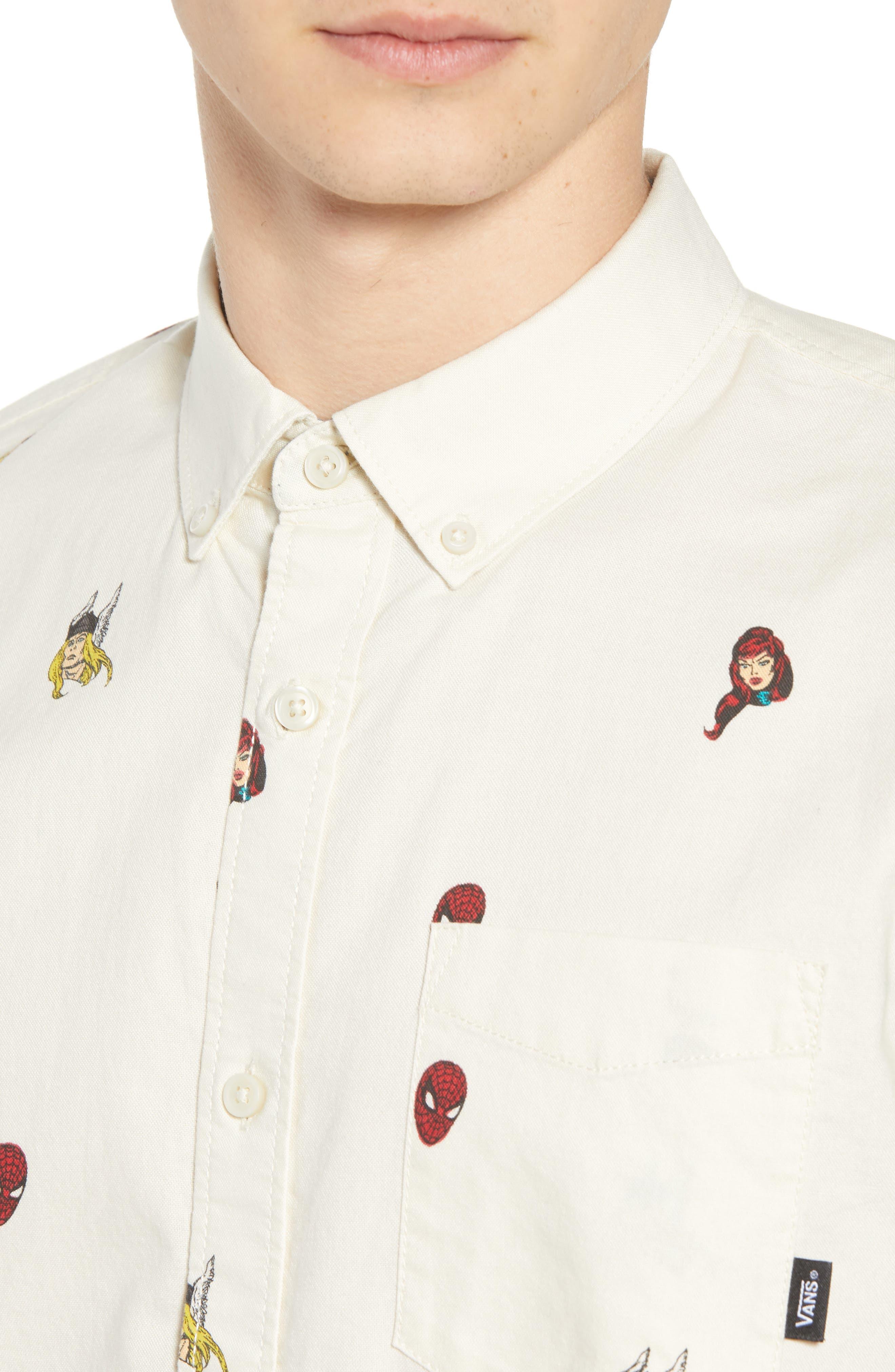 x Marvel<sup>®</sup> Houser Woven Shirt,                             Alternate thumbnail 2, color,                             Marvel Avengers