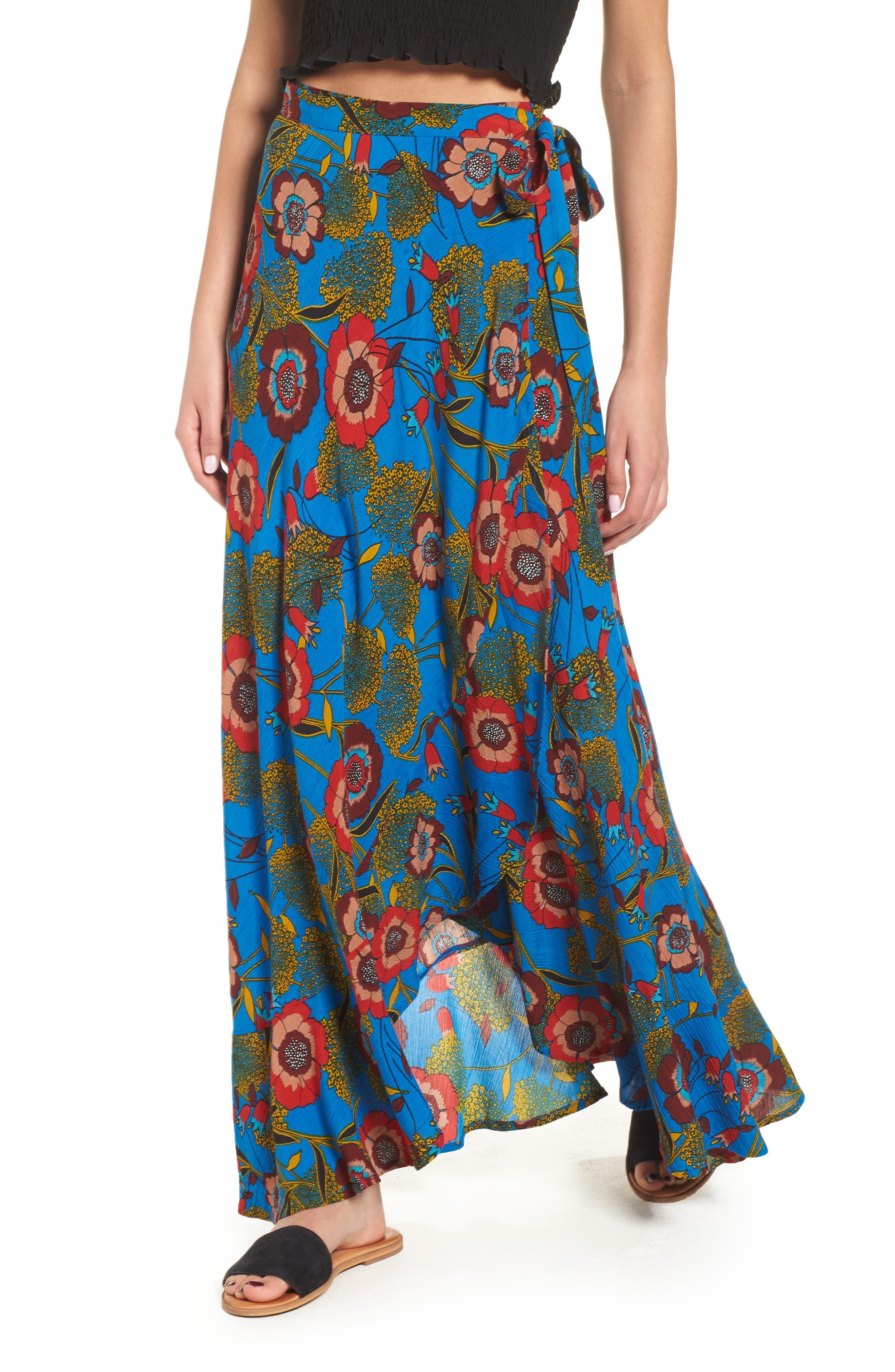 Band of Gypsies Heirloom Blossom Maxi Wrap Skirt