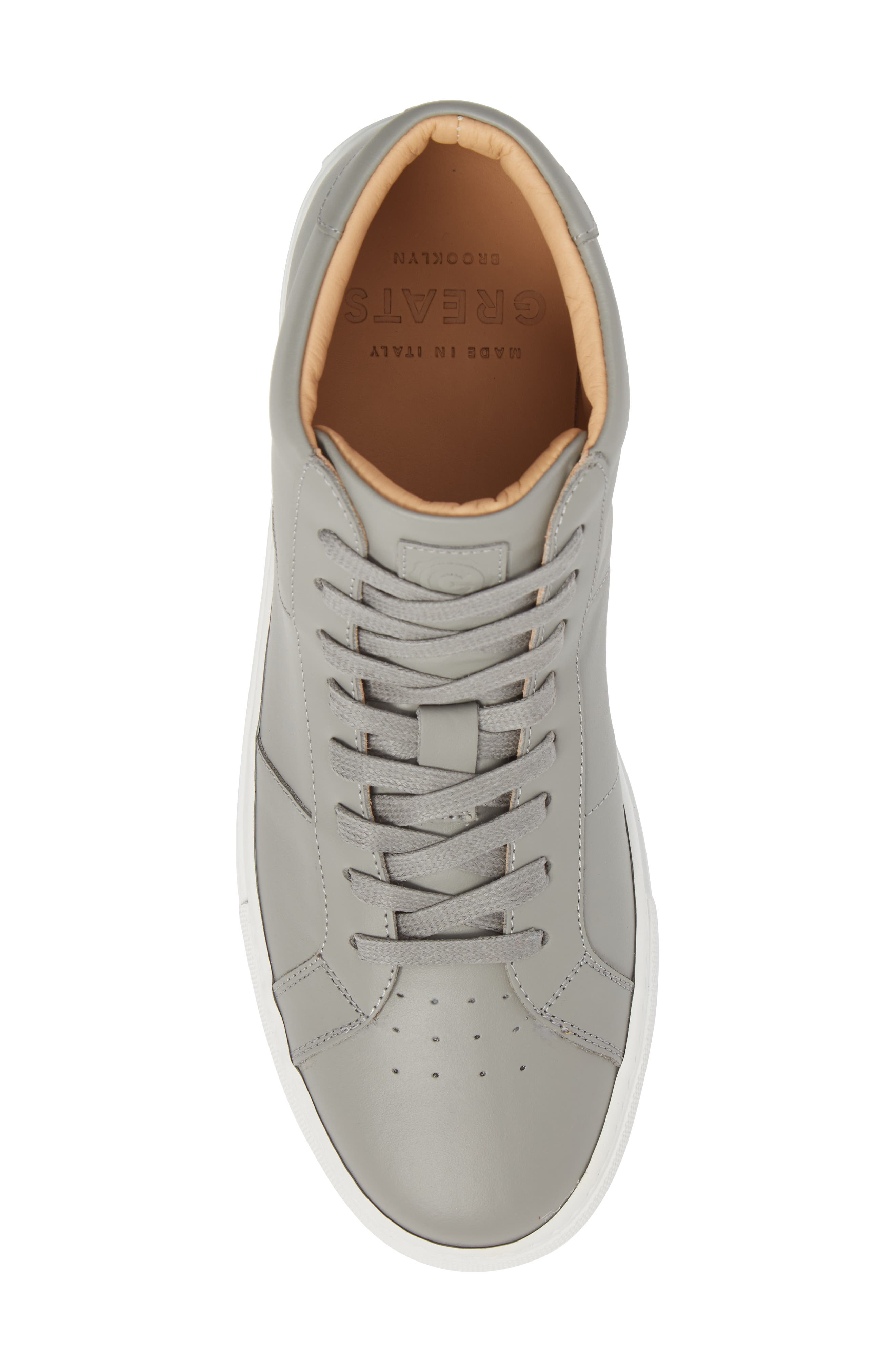 Royale High Top Sneaker,                             Alternate thumbnail 5, color,                             Grey Leather