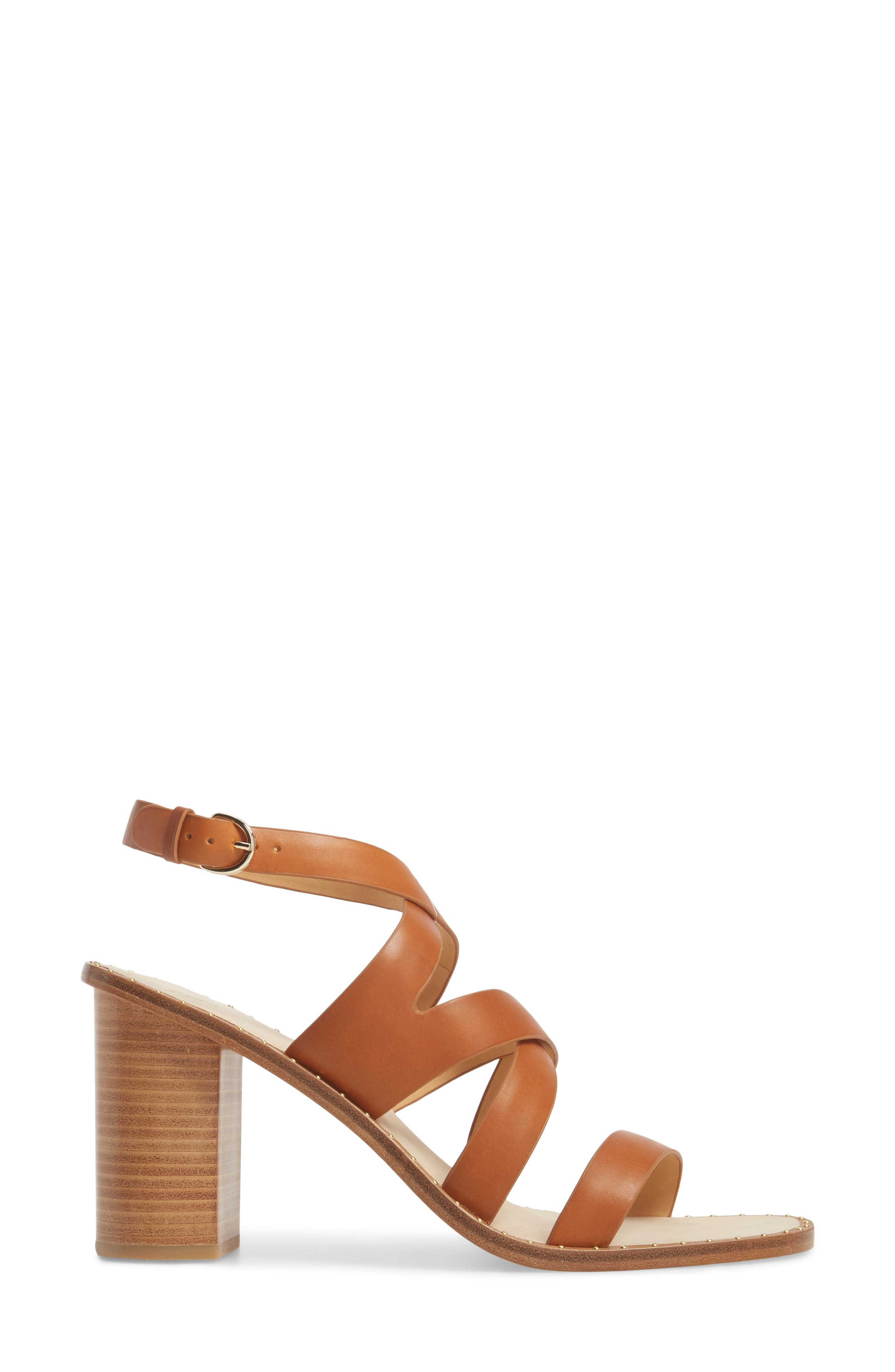 Onfer Studded Strappy Sandal,                             Alternate thumbnail 3, color,                             Tan