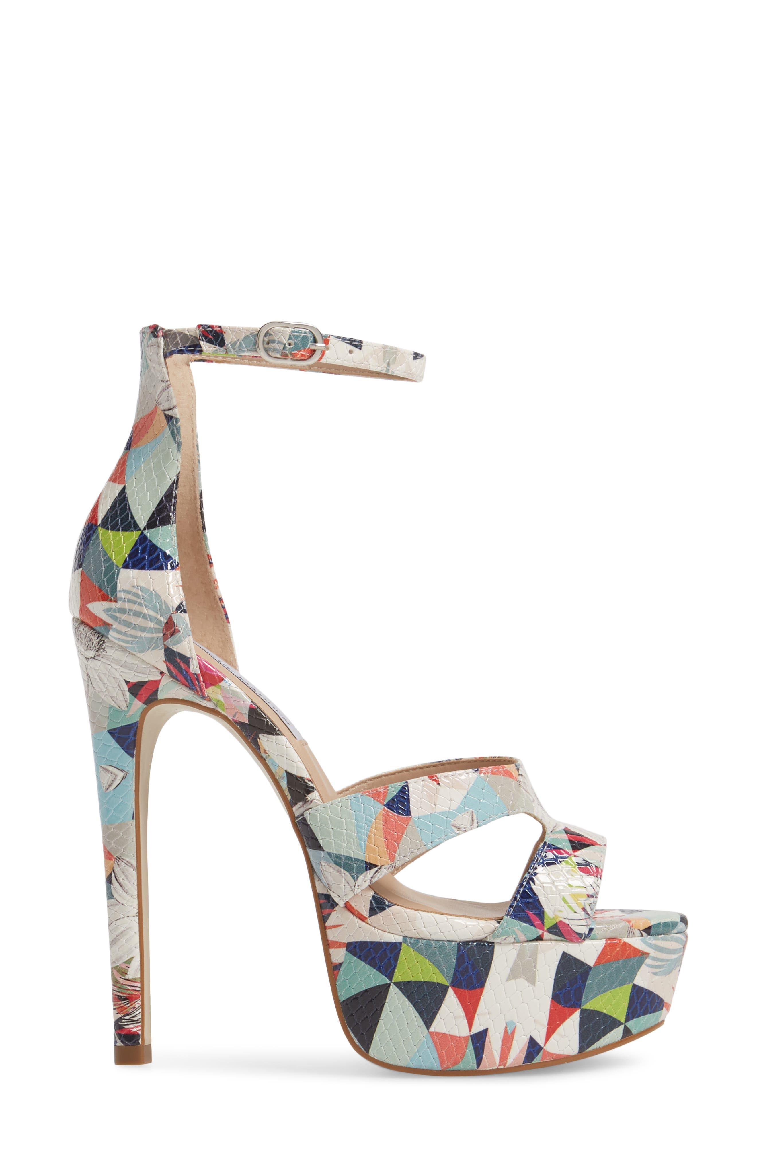 Janelle Platform Sandal,                             Alternate thumbnail 3, color,                             Bright Multi
