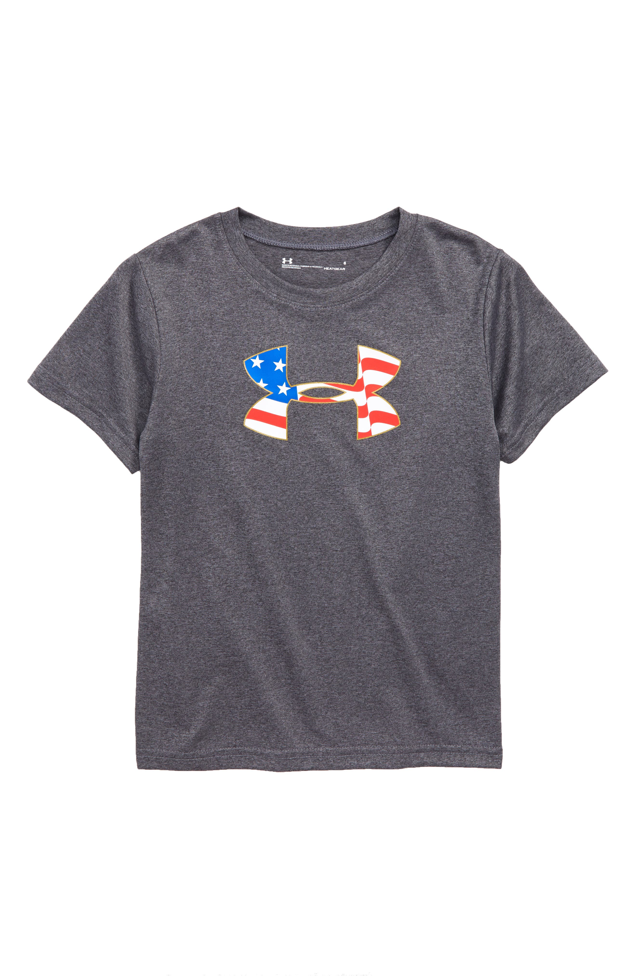 Americana Logo Graphic T-Shirt,                             Main thumbnail 1, color,                             Carbon Heather