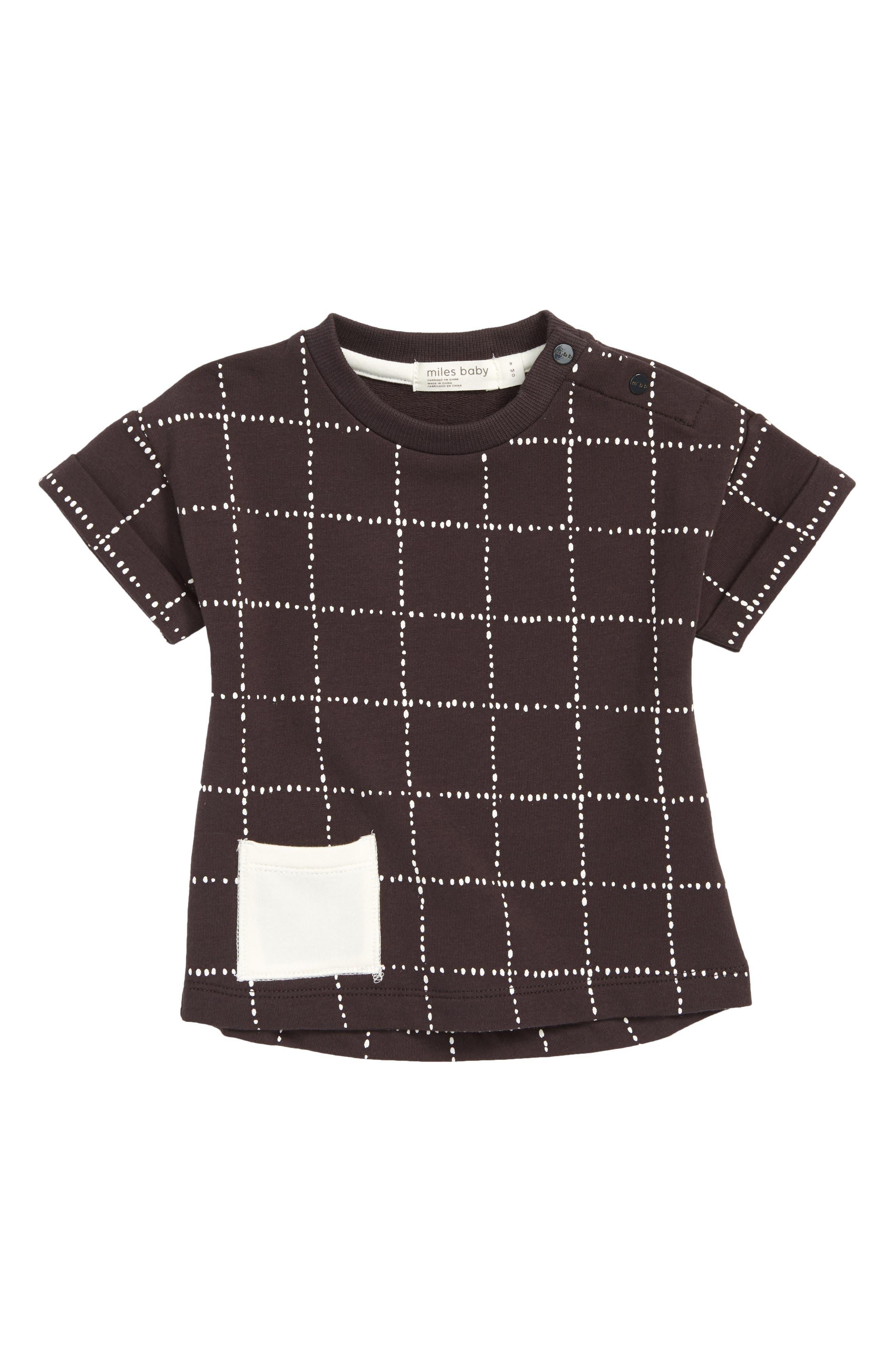Dot Print Shirt,                         Main,                         color, Dark Grey