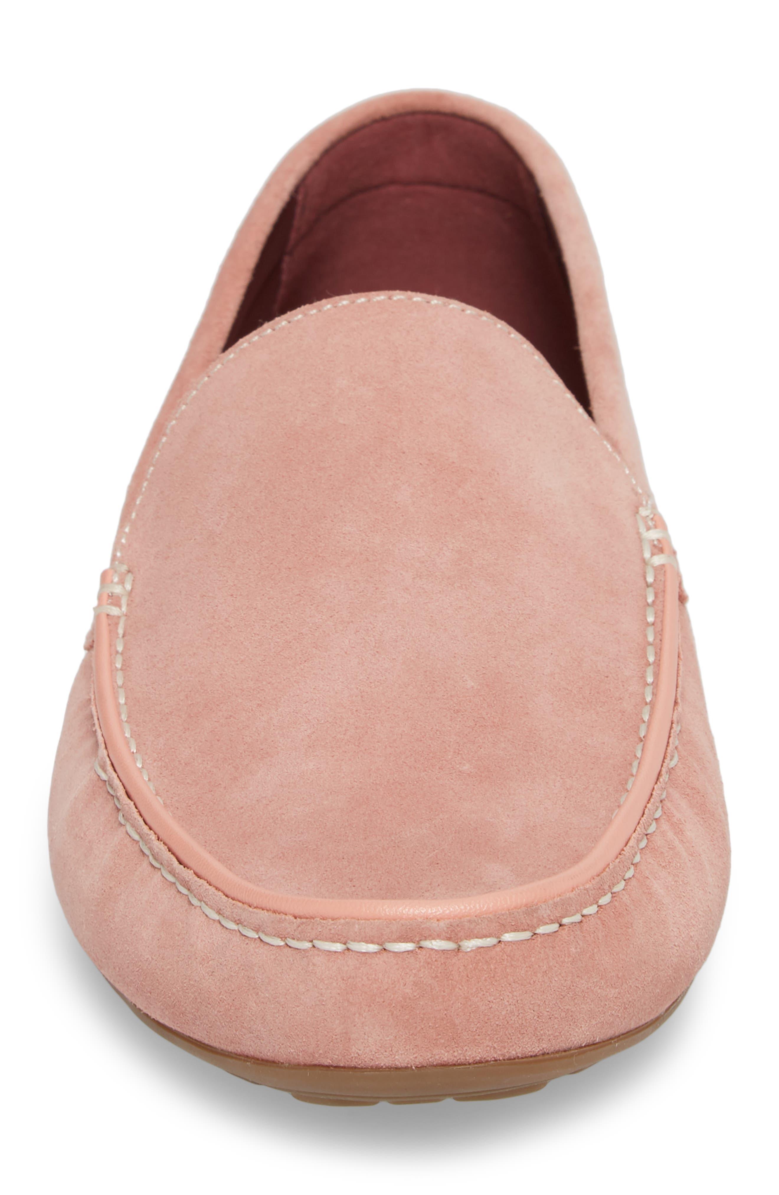 Leroy Driver Shoe,                             Alternate thumbnail 4, color,                             Blush