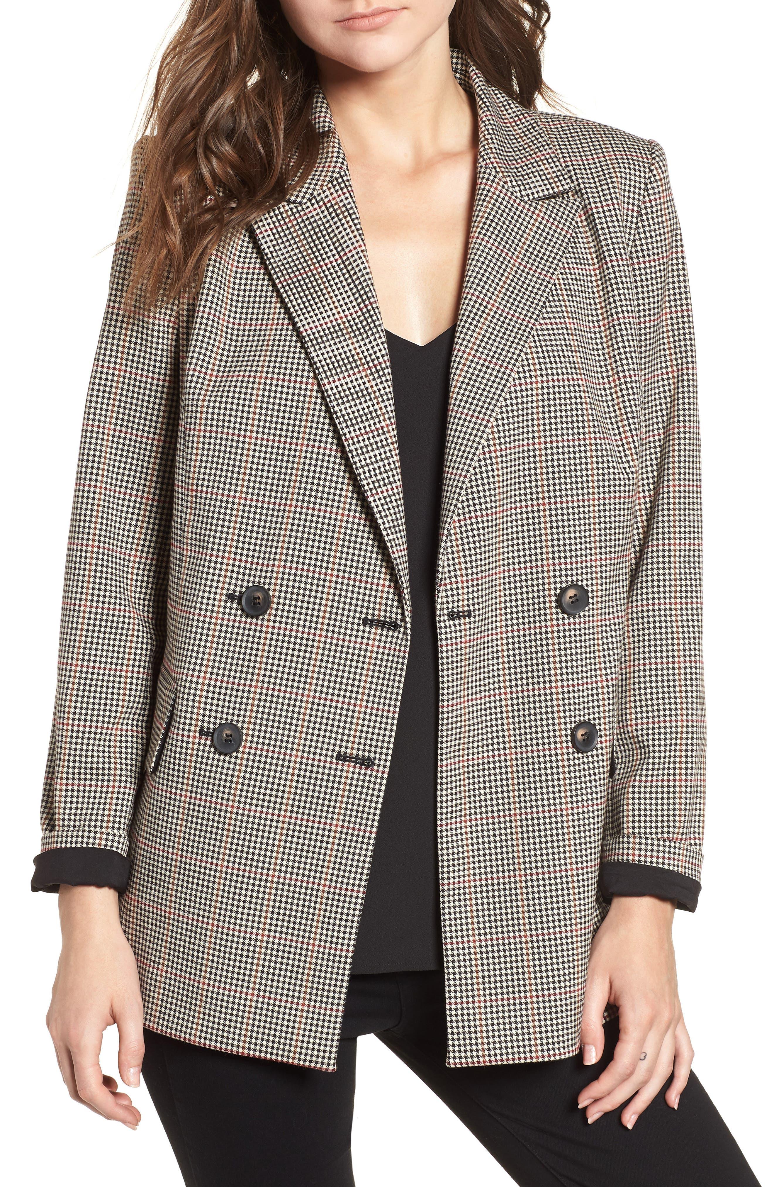 Menswear Blazer,                         Main,                         color, London Check