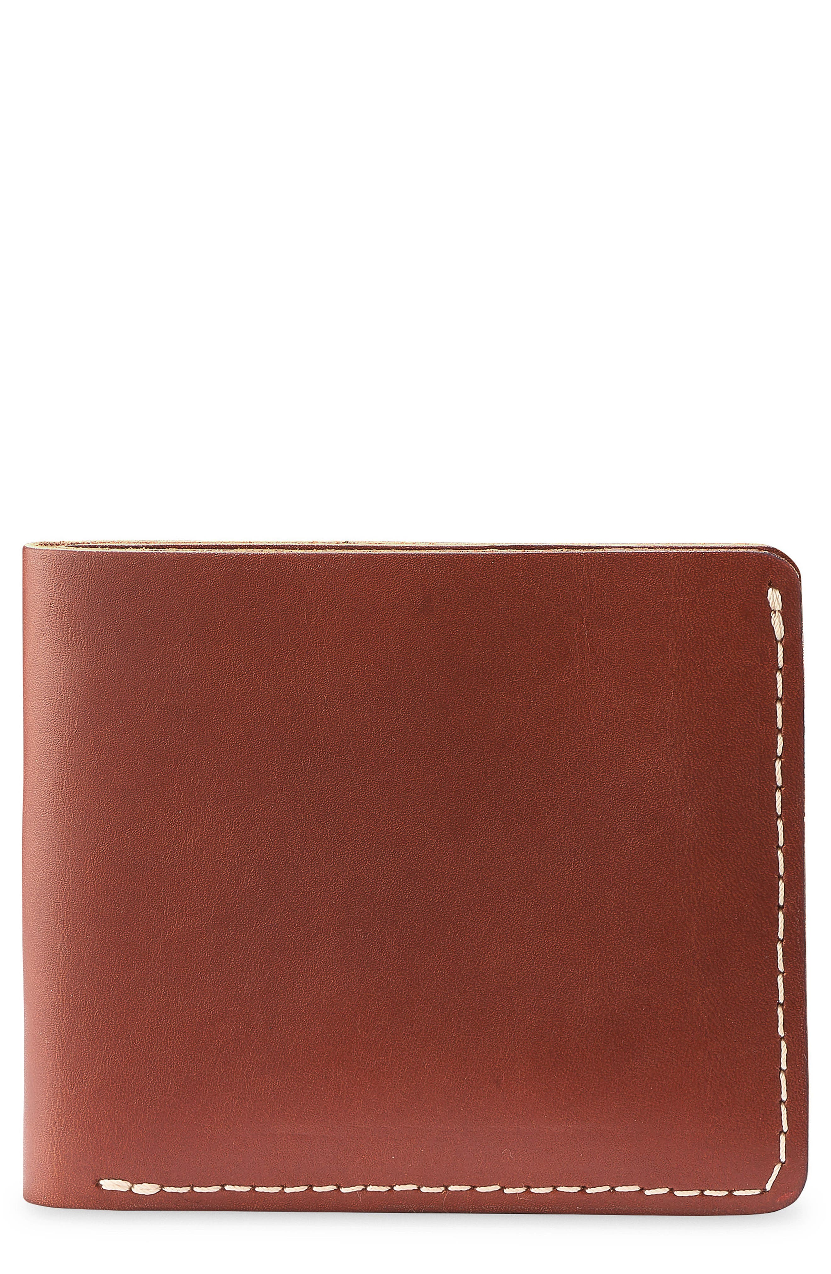 Classic Bifold Leather Wallet,                             Main thumbnail 1, color,                             Oro Russet