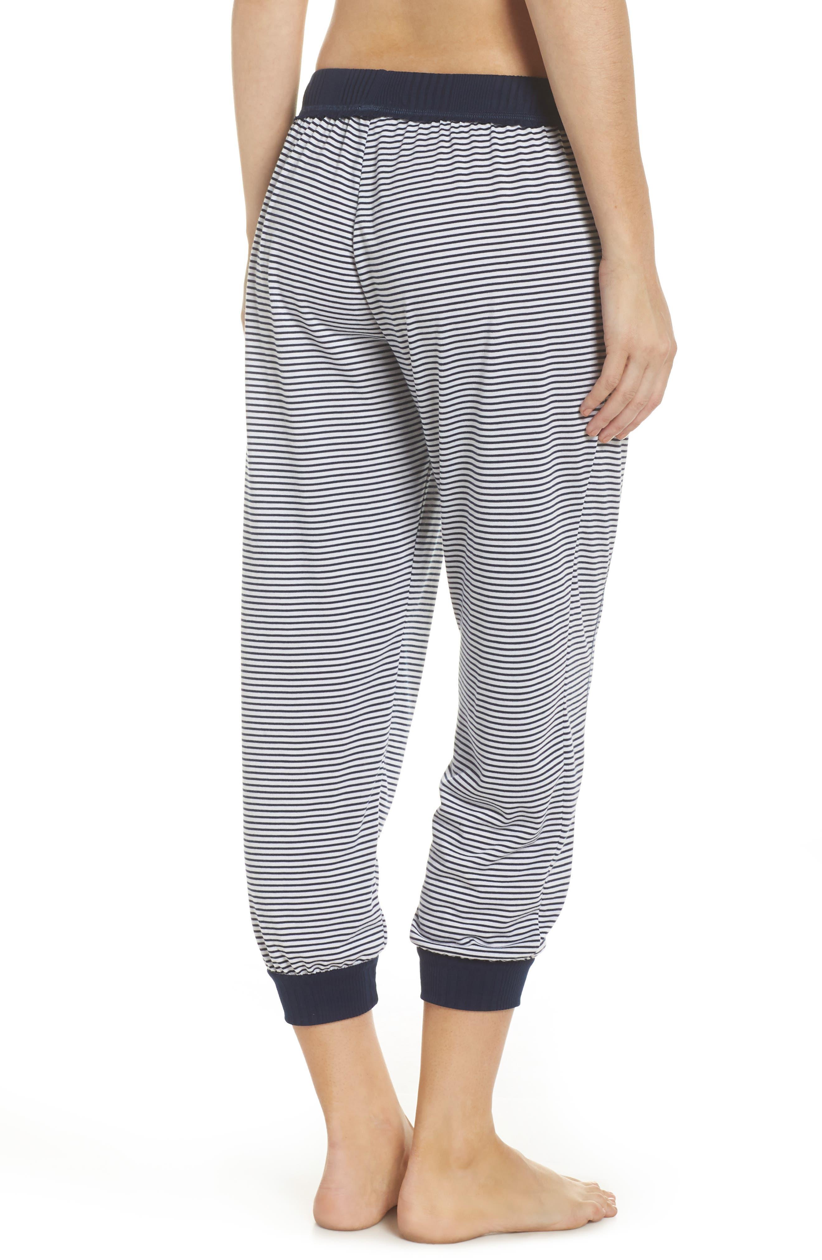 Crop Pajama Pants,                             Alternate thumbnail 2, color,                             Lakeside Stripe