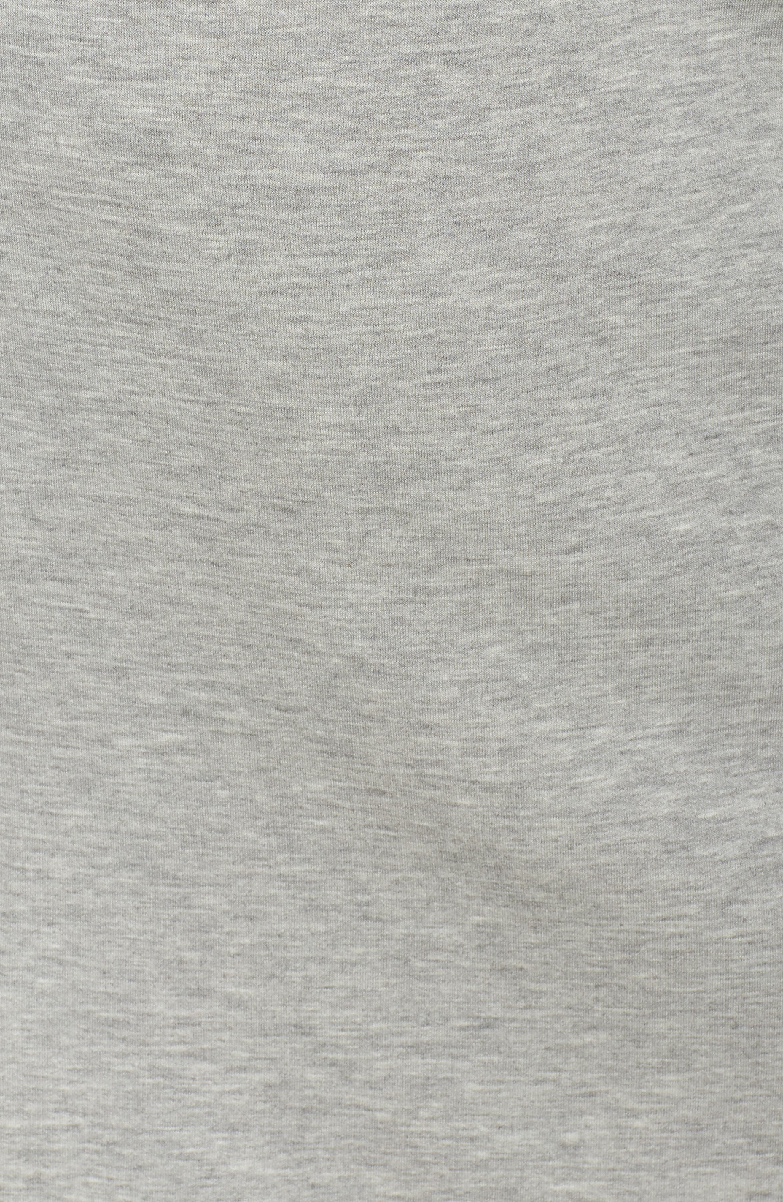 Off-Duty Tie Waist Miniskirt,                             Alternate thumbnail 5, color,                             Grey Heather