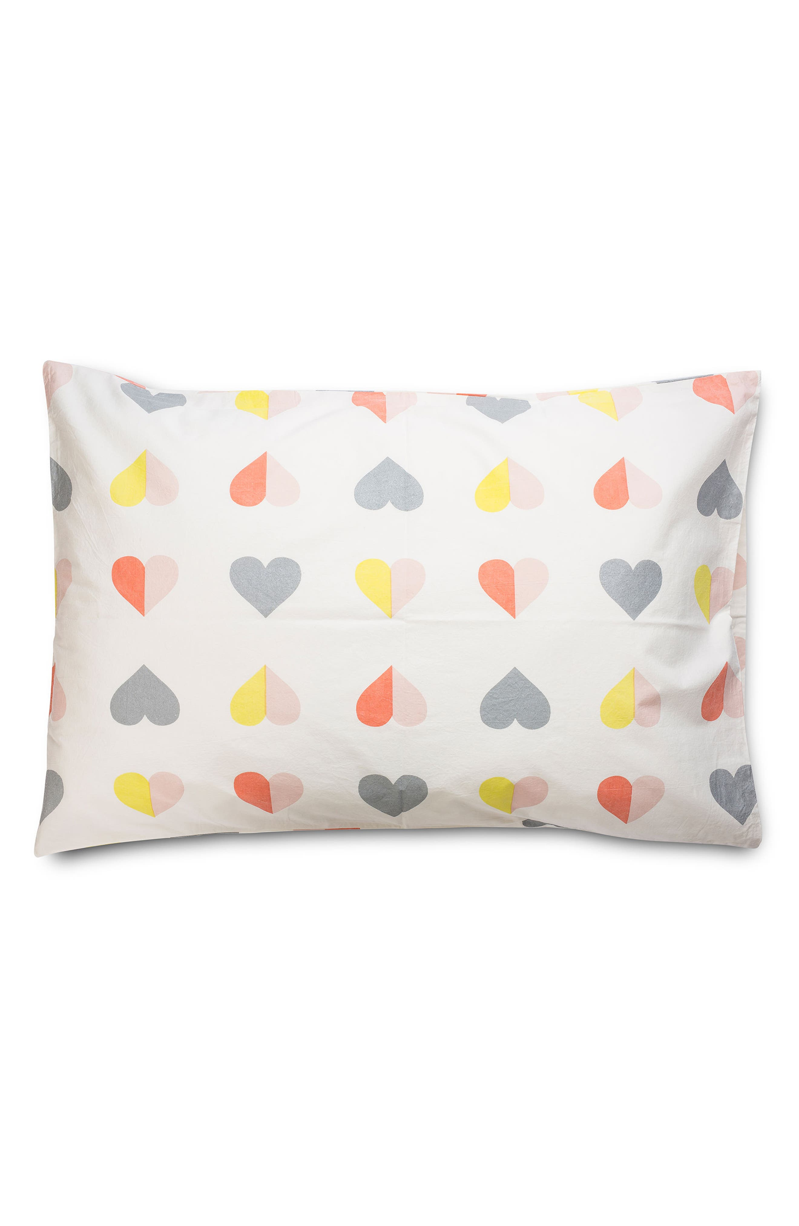 Hearts Twin Sheet & Pillowcase Set,                             Alternate thumbnail 4, color,                             Multi
