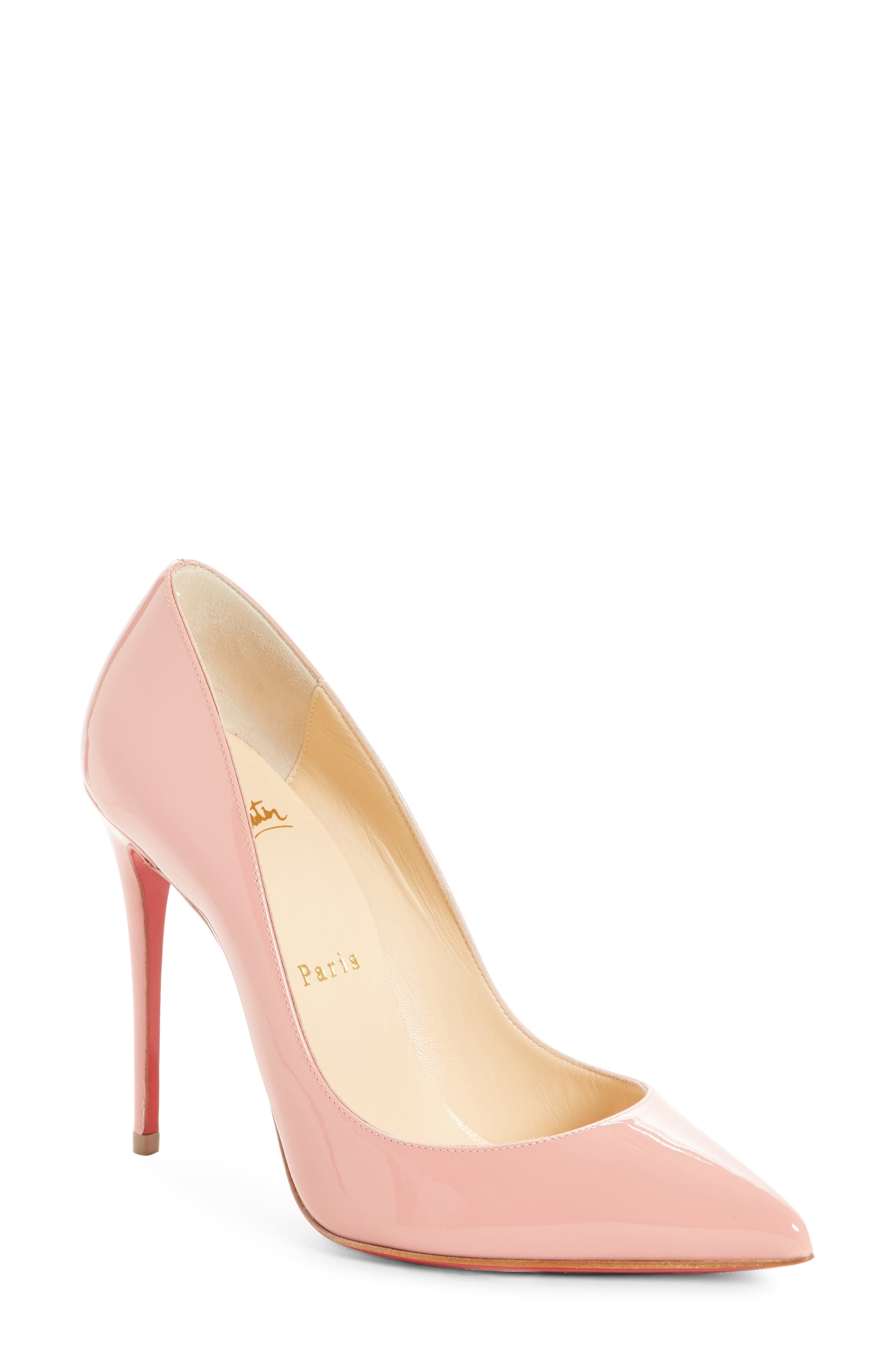 'Pigalle Follies' Pointy Toe Pump,                             Main thumbnail 1, color,                             Marshmallow Pink