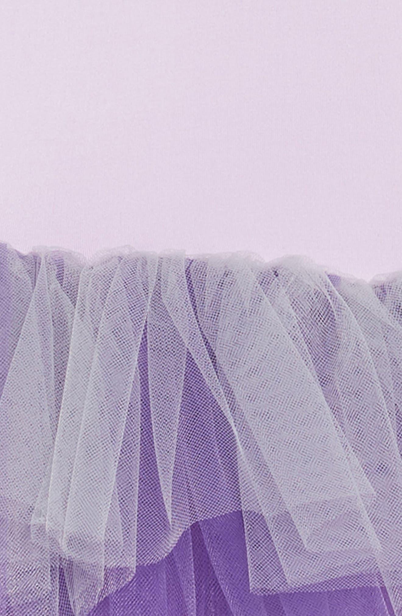 Tutu Dress,                             Alternate thumbnail 3, color,                             Ombre Purple