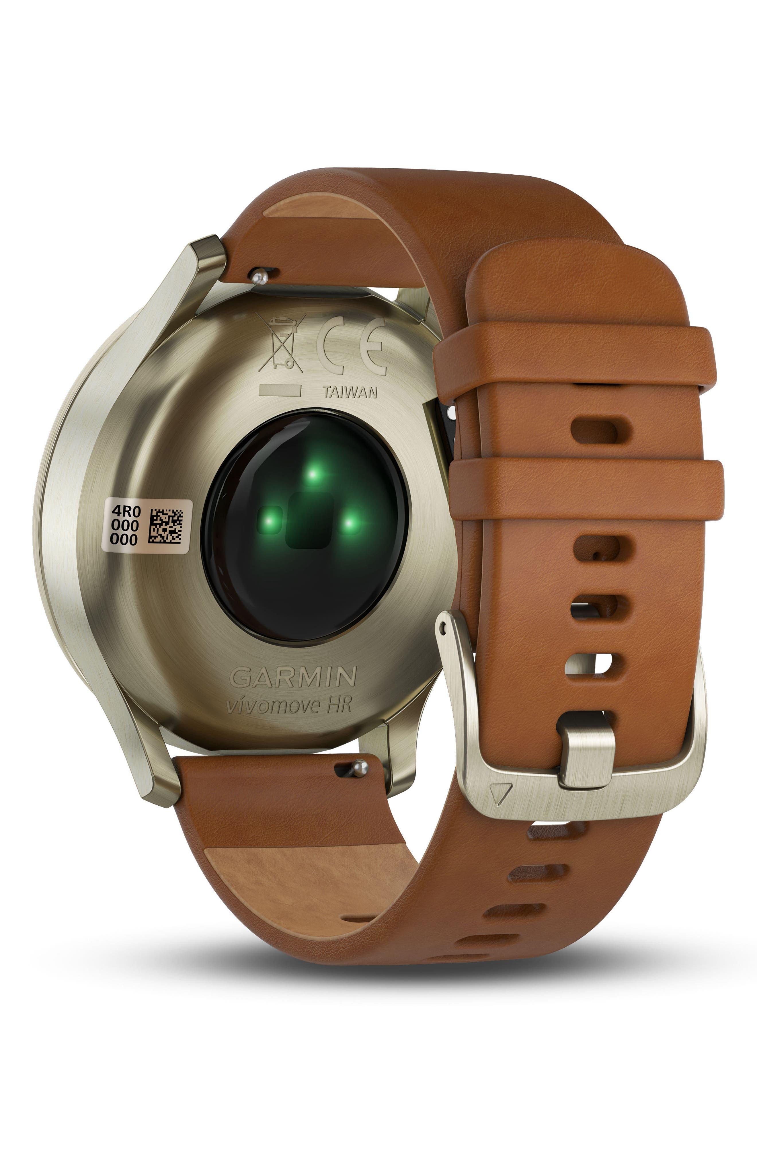 Vivomove HR Hybrid Smart Watch,                             Alternate thumbnail 7, color,                             Light Brown/ Gold/ Gold