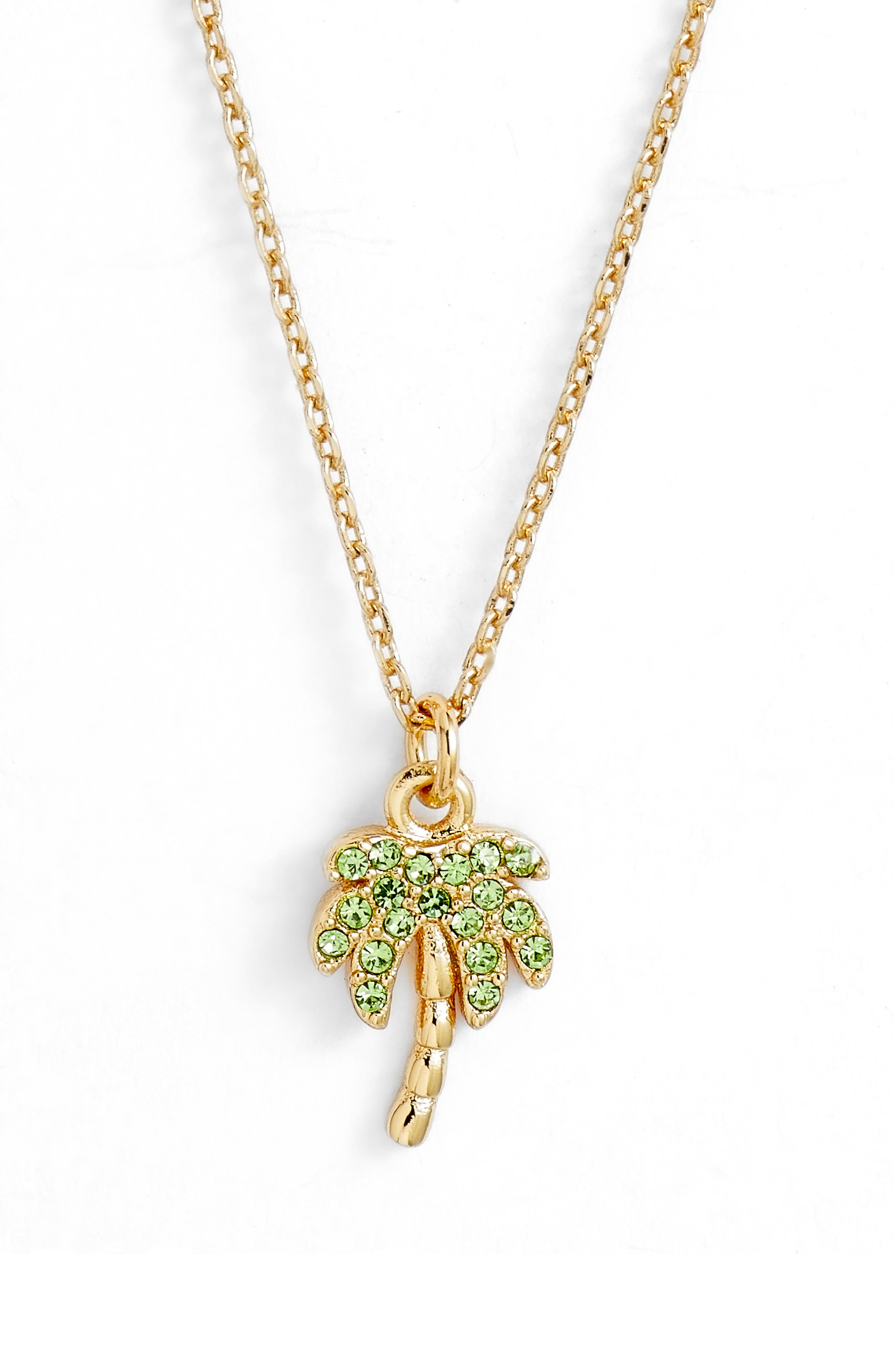 california dreaming pavé palm pendant necklace,                             Main thumbnail 1, color,                             Multi