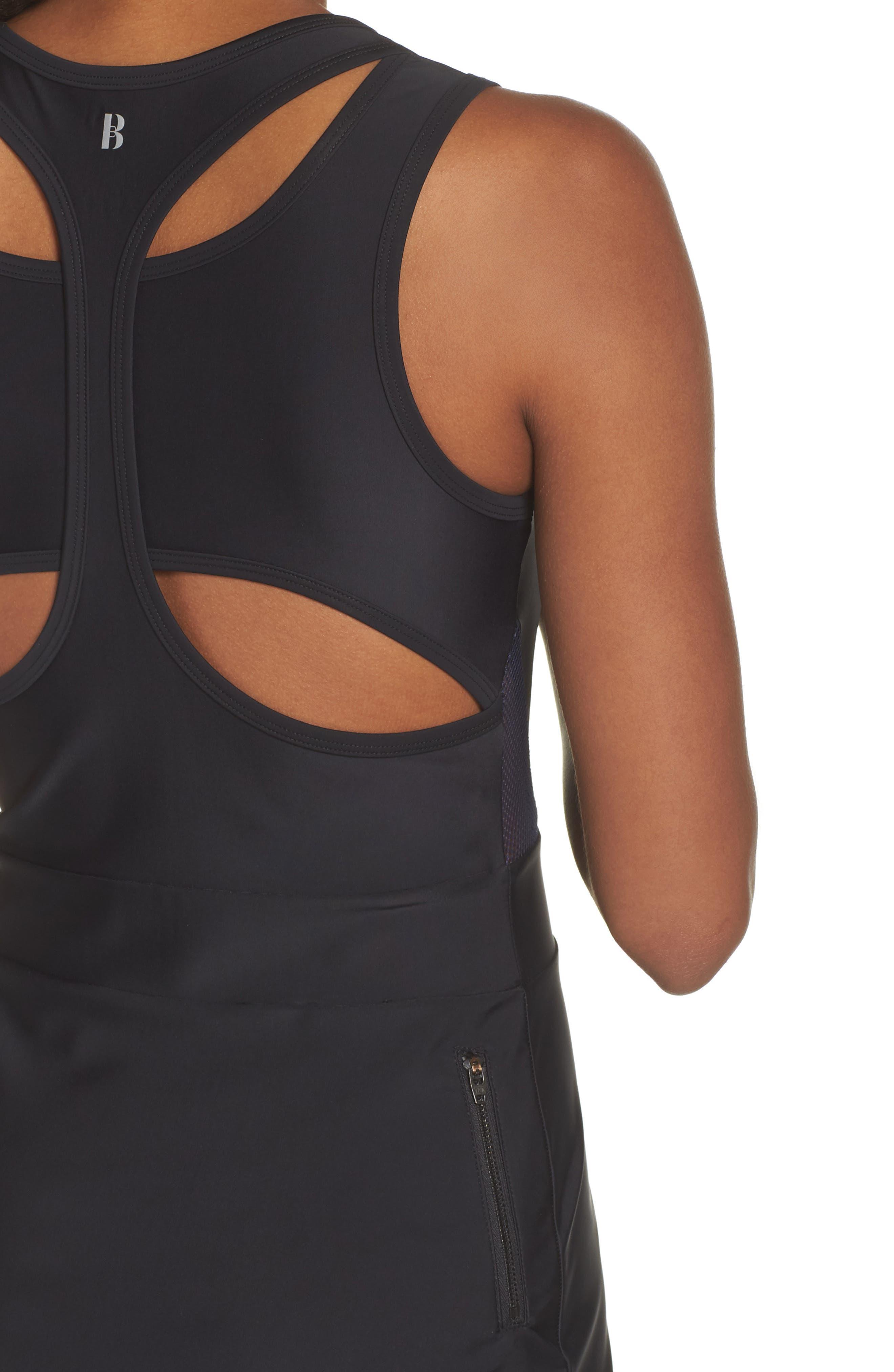 BoomBoom Athletica Tennis Dress,                             Alternate thumbnail 4, color,                             Black/ Navy