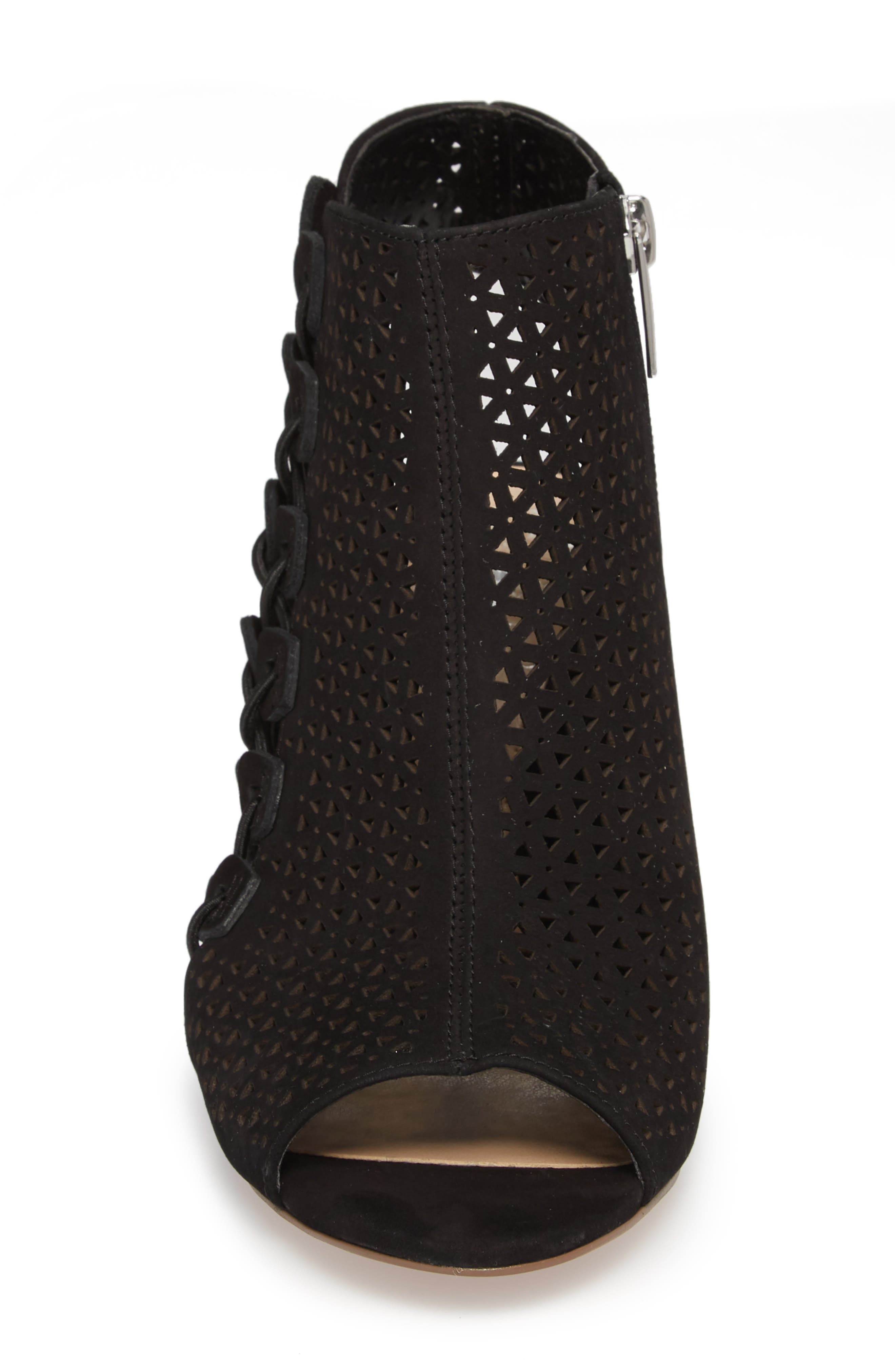 Elison Bootie,                             Alternate thumbnail 4, color,                             Black Leather