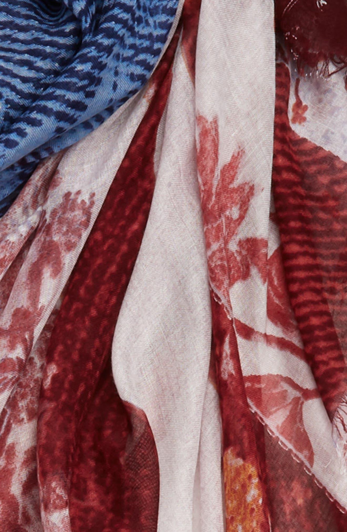 Heirloom Flag Print Wrap,                             Alternate thumbnail 3, color,                             Red Heirloom Flag