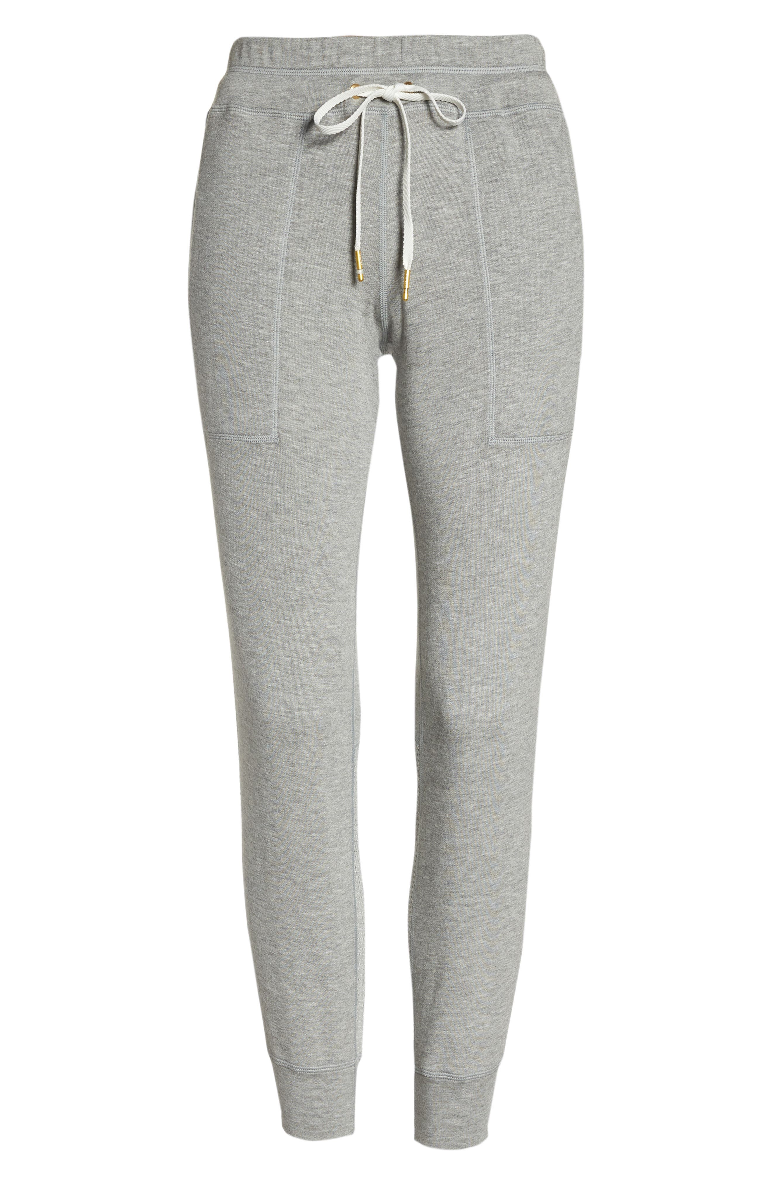 Heron Ankle Jogger Pants,                             Alternate thumbnail 7, color,                             Heather Grey