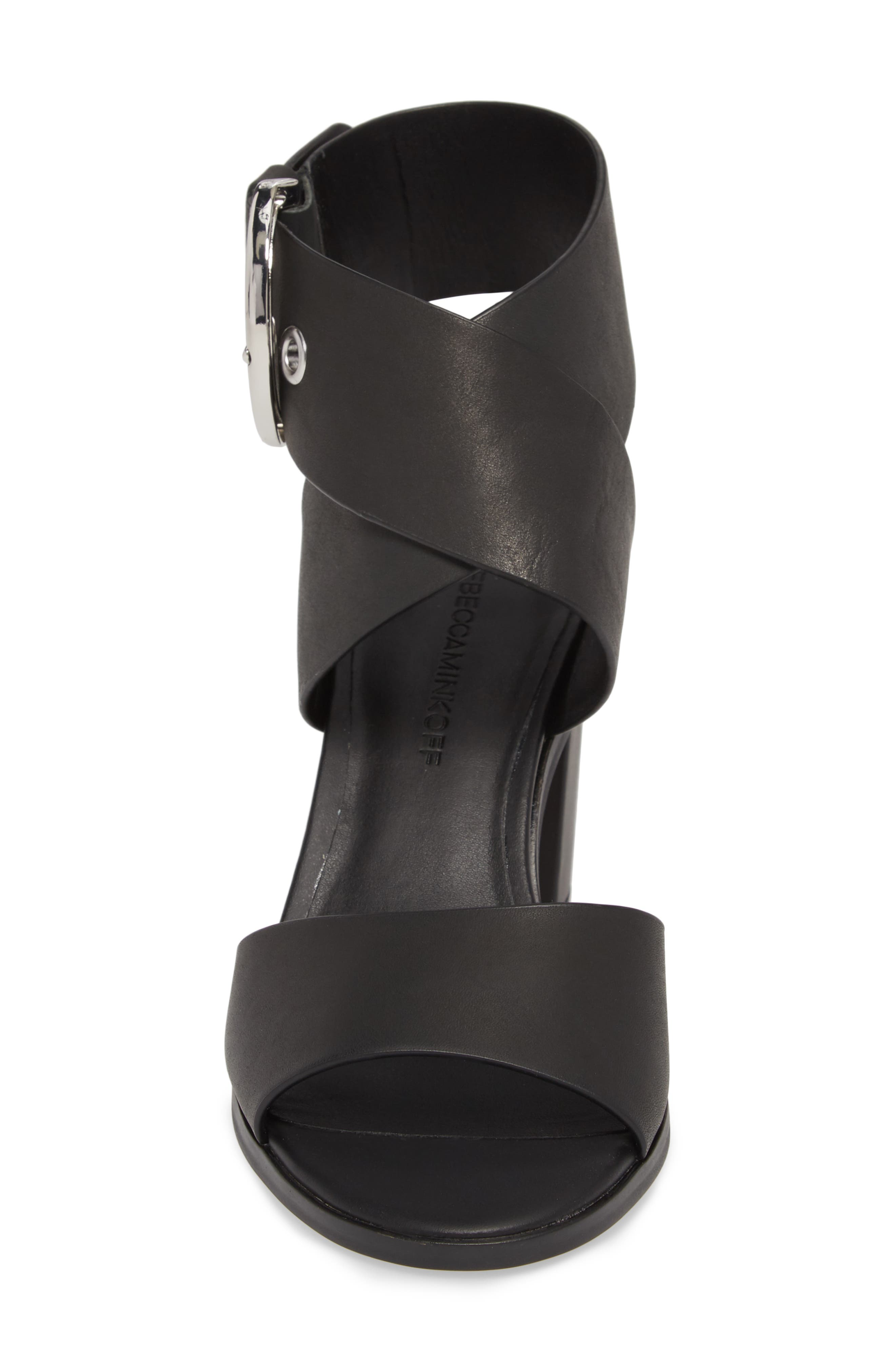 Valaree Sandal,                             Alternate thumbnail 4, color,                             Black Leather