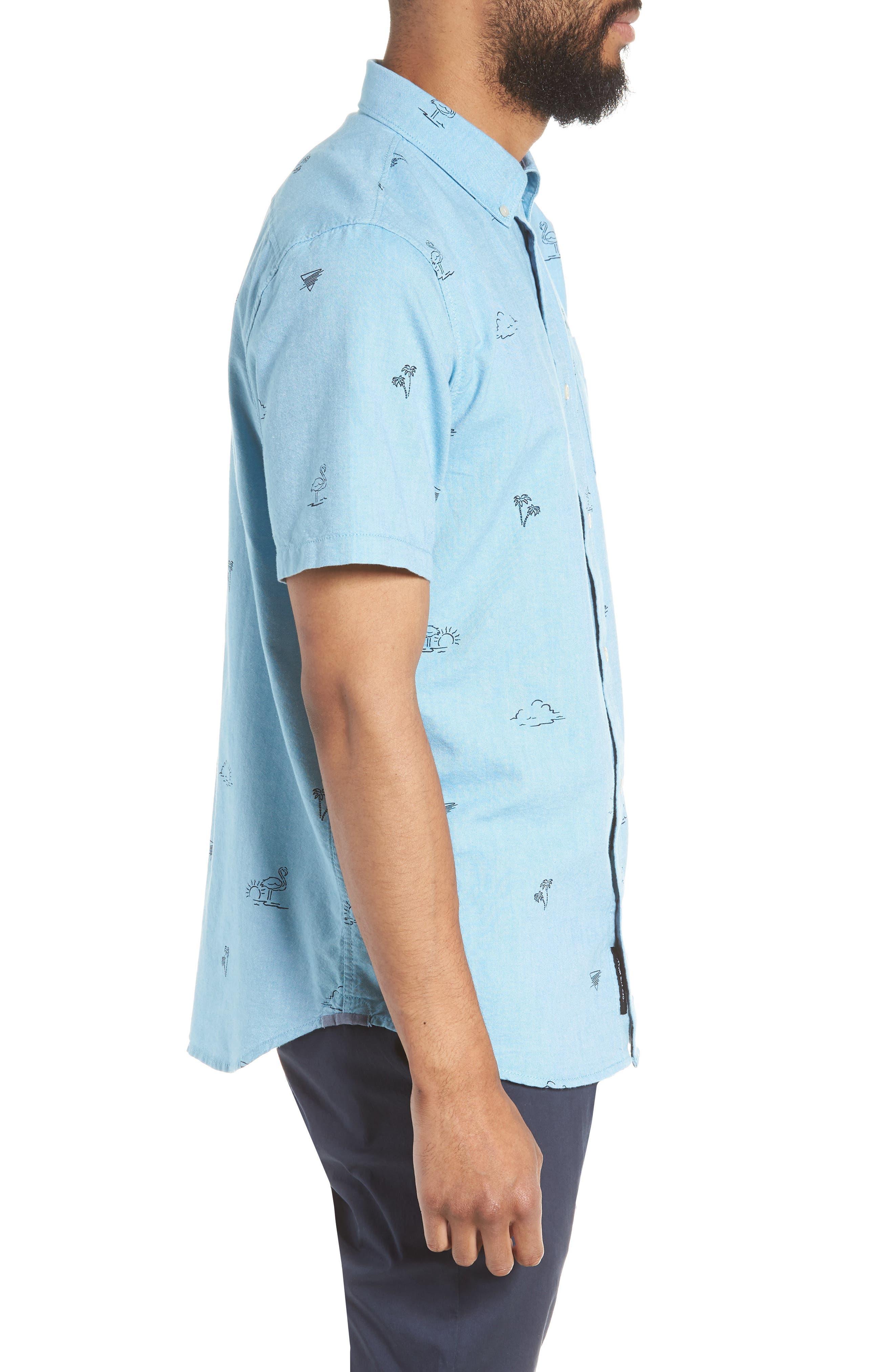 Houser Woven Shirt,                             Alternate thumbnail 4, color,                             Blue Moon Road Trippin