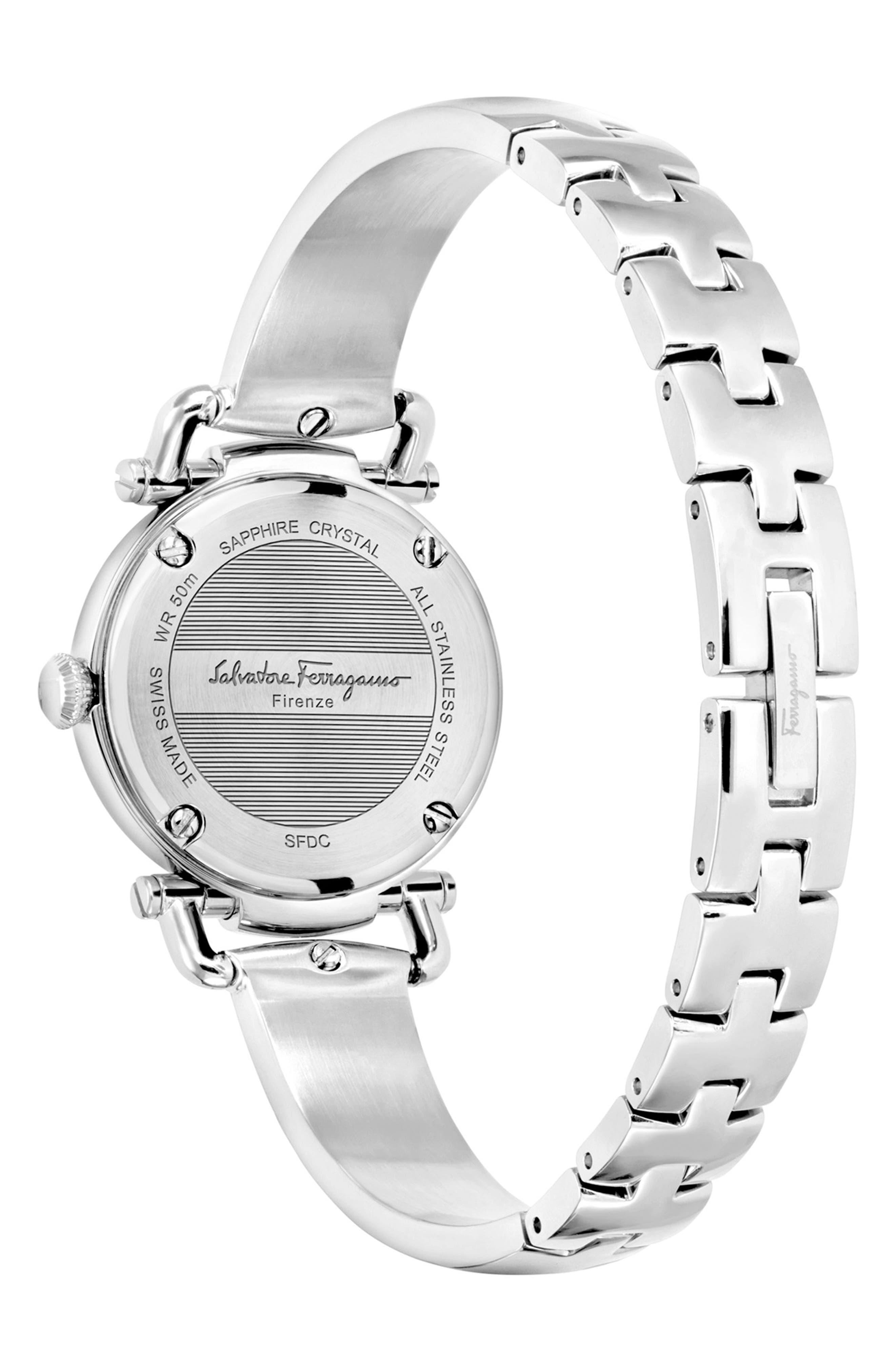 Gancino Bangle Watch, 26mm,                             Alternate thumbnail 2, color,                             Silver