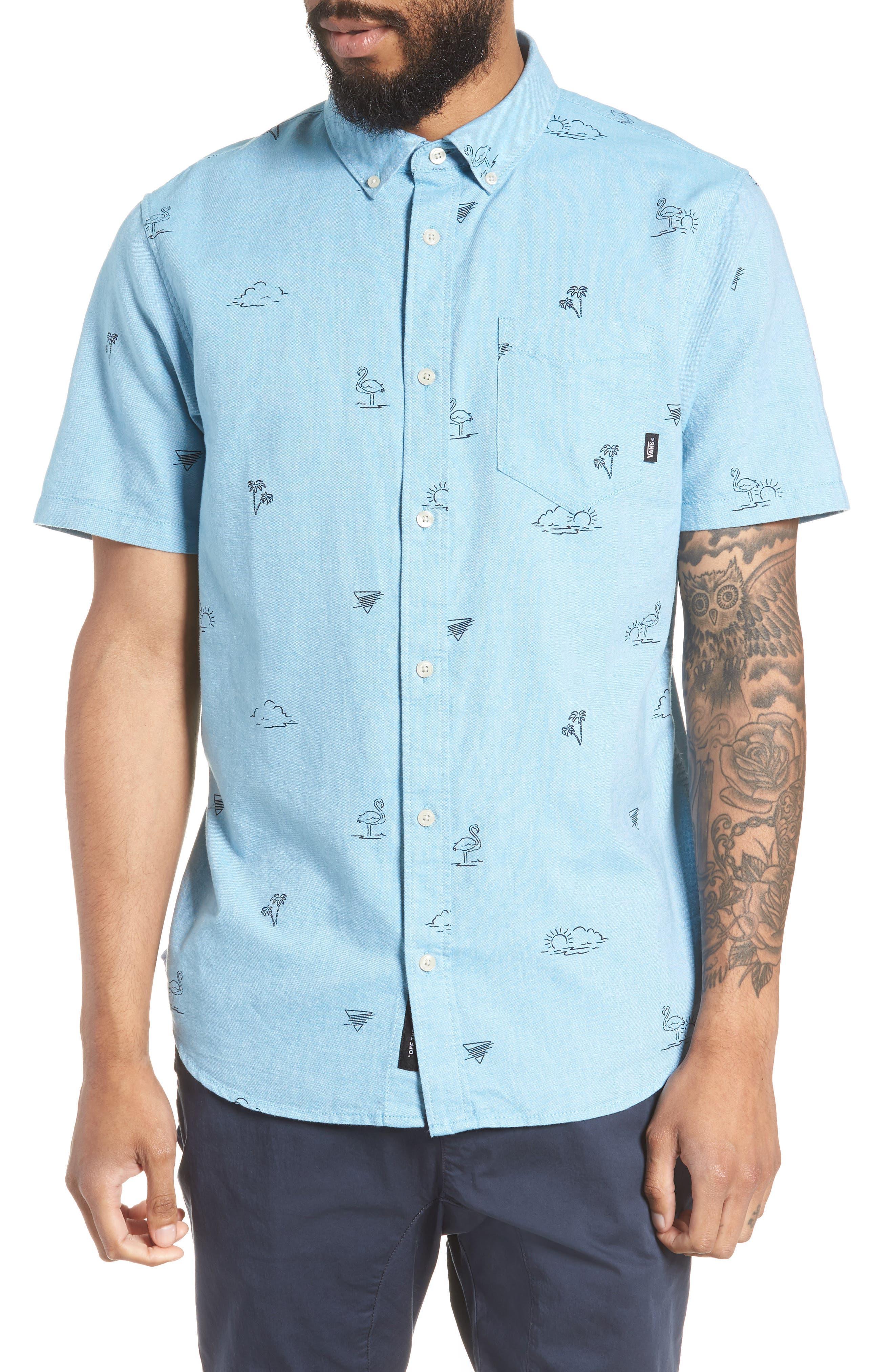 Houser Woven Shirt,                         Main,                         color, Blue Moon Road Trippin