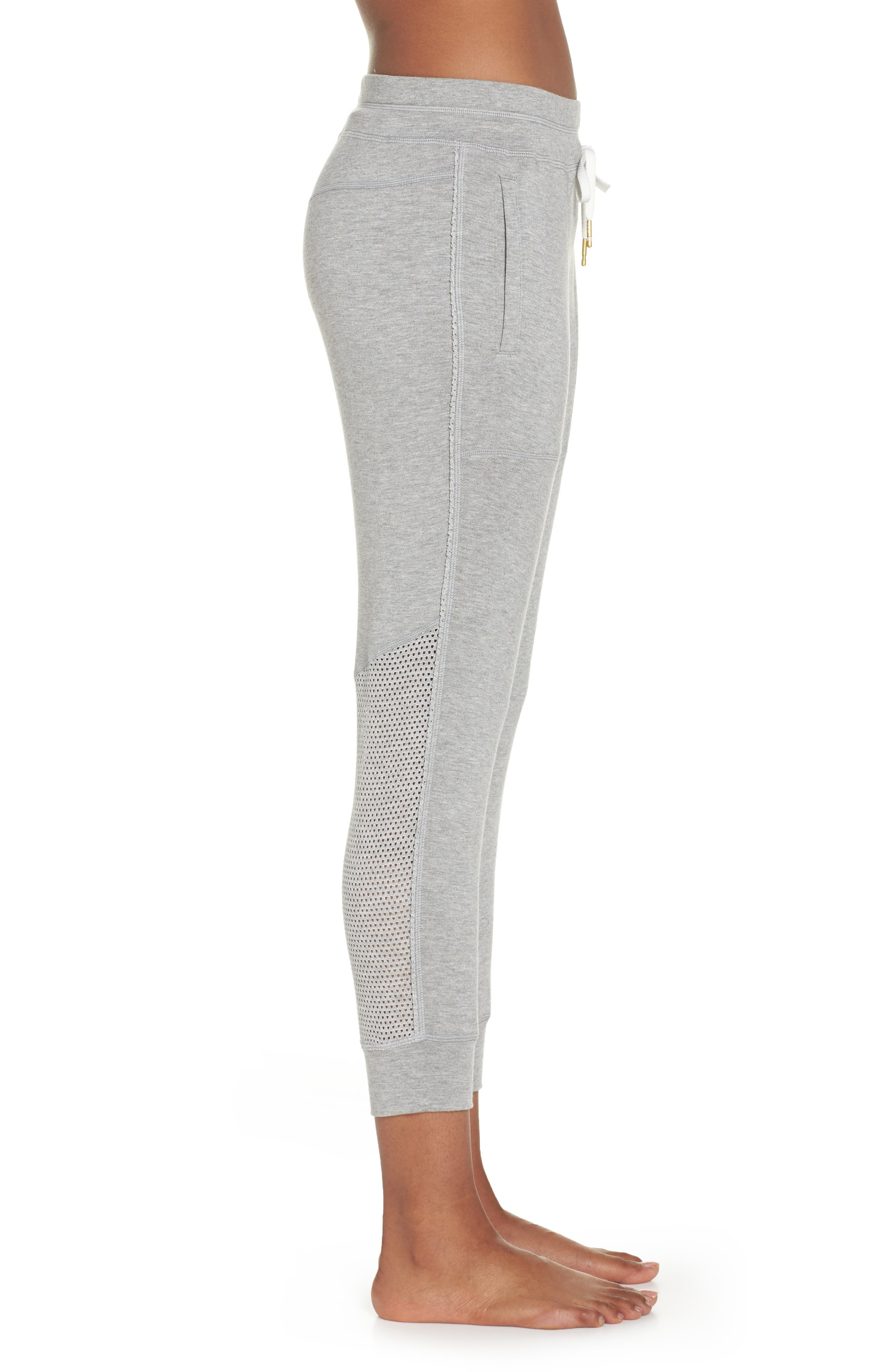 Heron Ankle Jogger Pants,                             Alternate thumbnail 3, color,                             Heather Grey