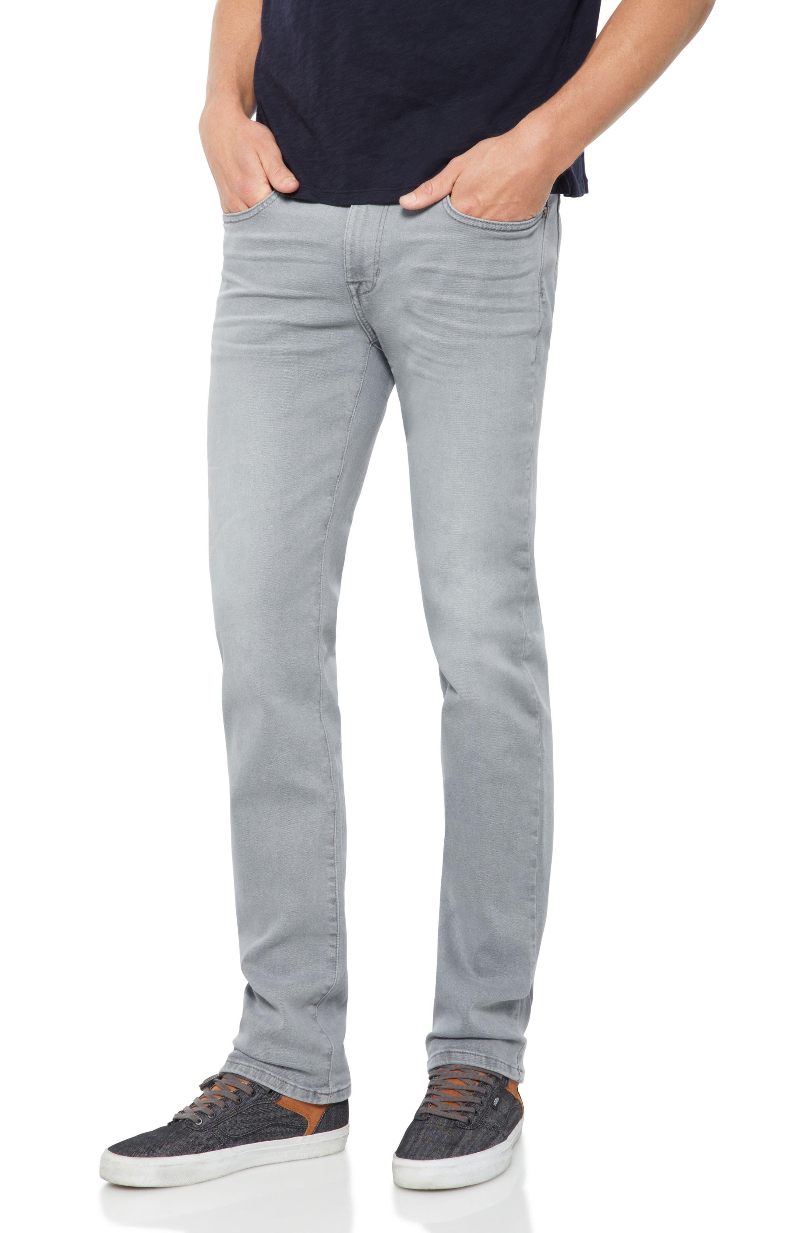 Brixton Slim Straight Leg Jeans,                             Main thumbnail 1, color,                             Feather