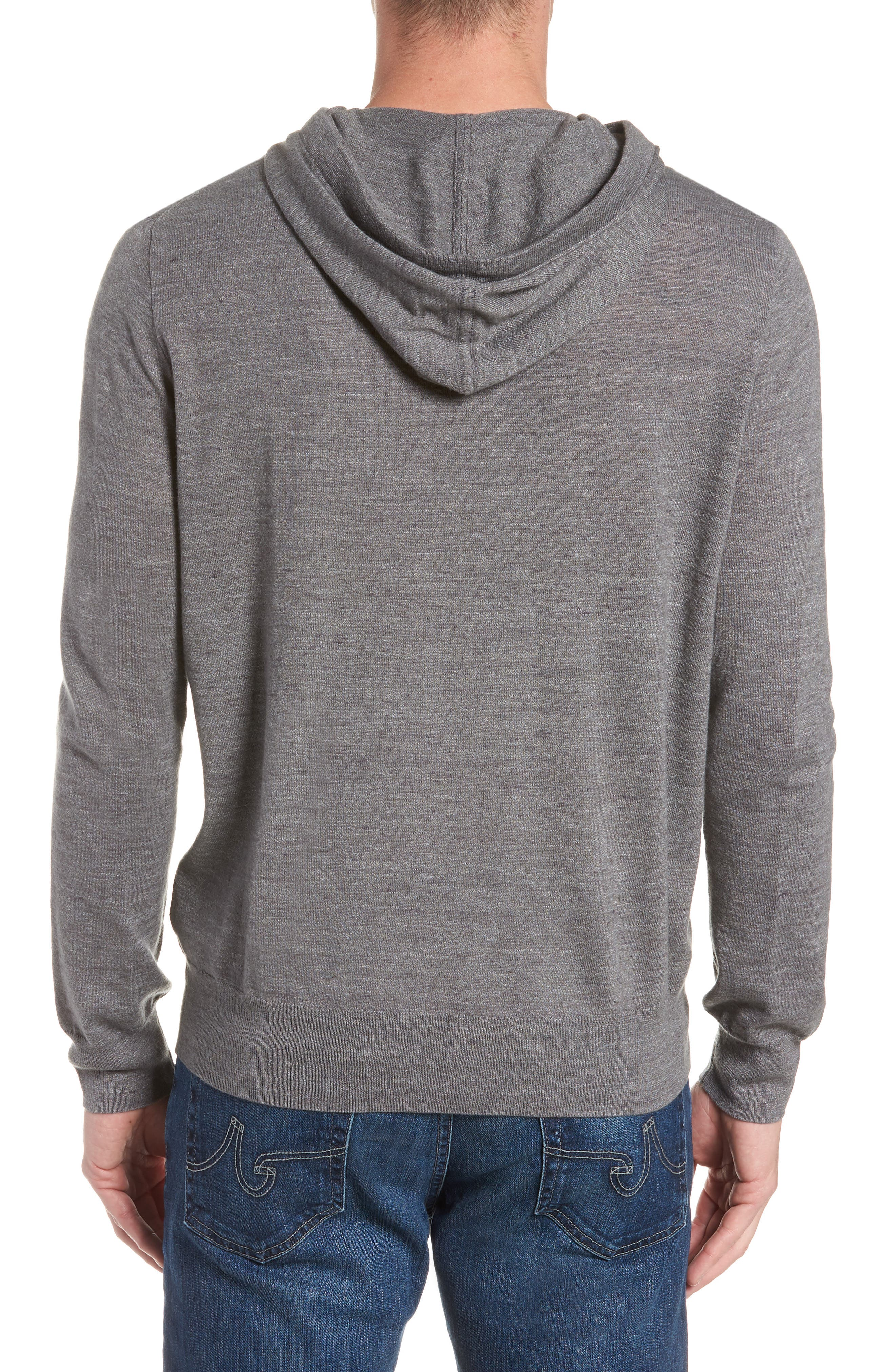 Lightweight Pullover Hoodie,                             Alternate thumbnail 2, color,                             Heather Pewter