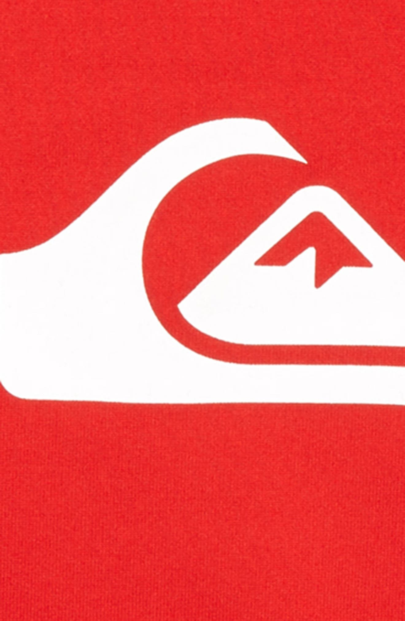 All Time Rashguard Top,                             Alternate thumbnail 2, color,                             Quik Red