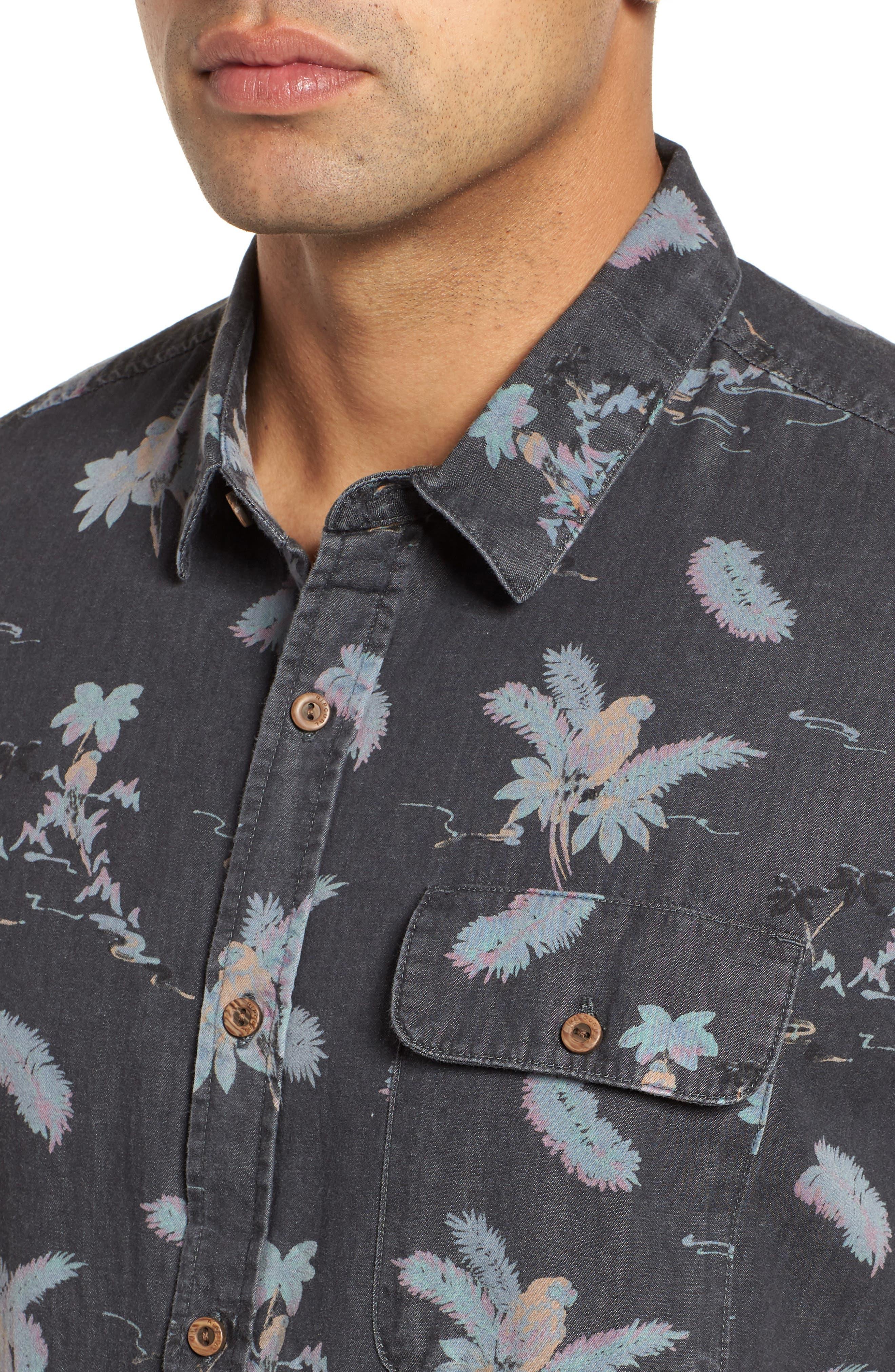 Meledrone Woven Shirt,                             Alternate thumbnail 2, color,                             Charcoal Grey