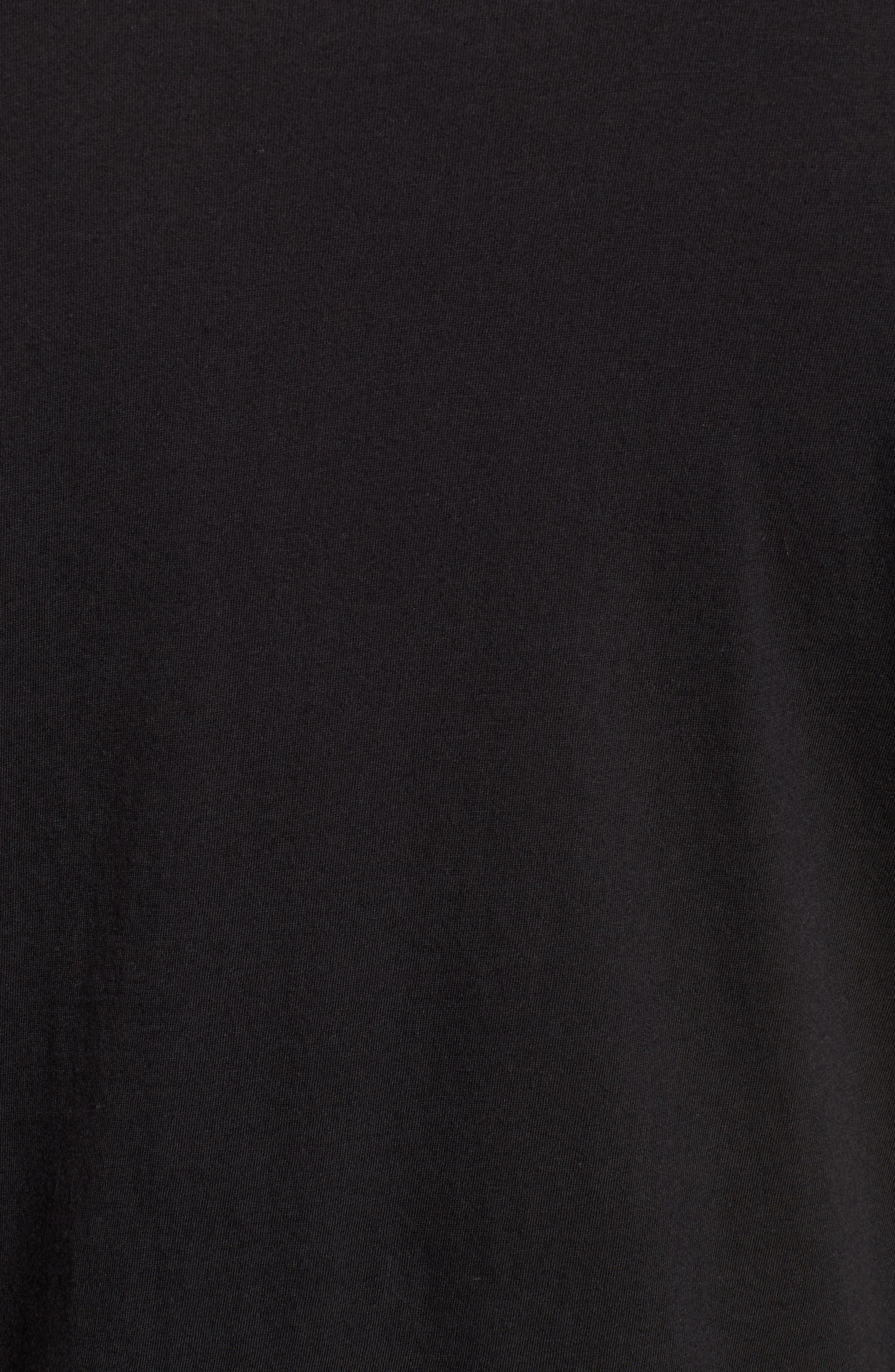 Bruce Pocket T-Shirt,                             Alternate thumbnail 3, color,                             Black