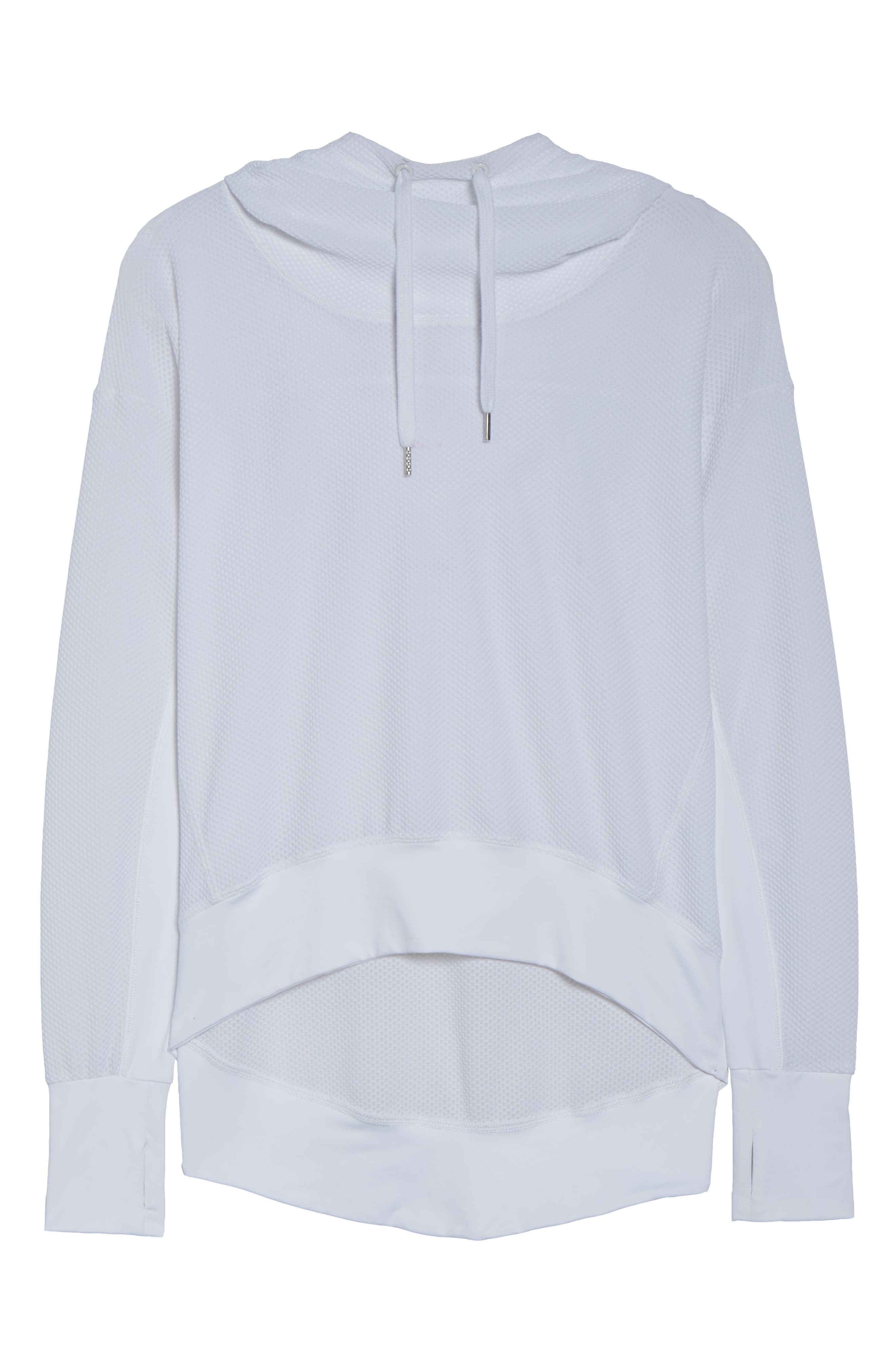 BoomBoom Athletica Bubble Mesh Hoodie,                             Alternate thumbnail 7, color,                             White