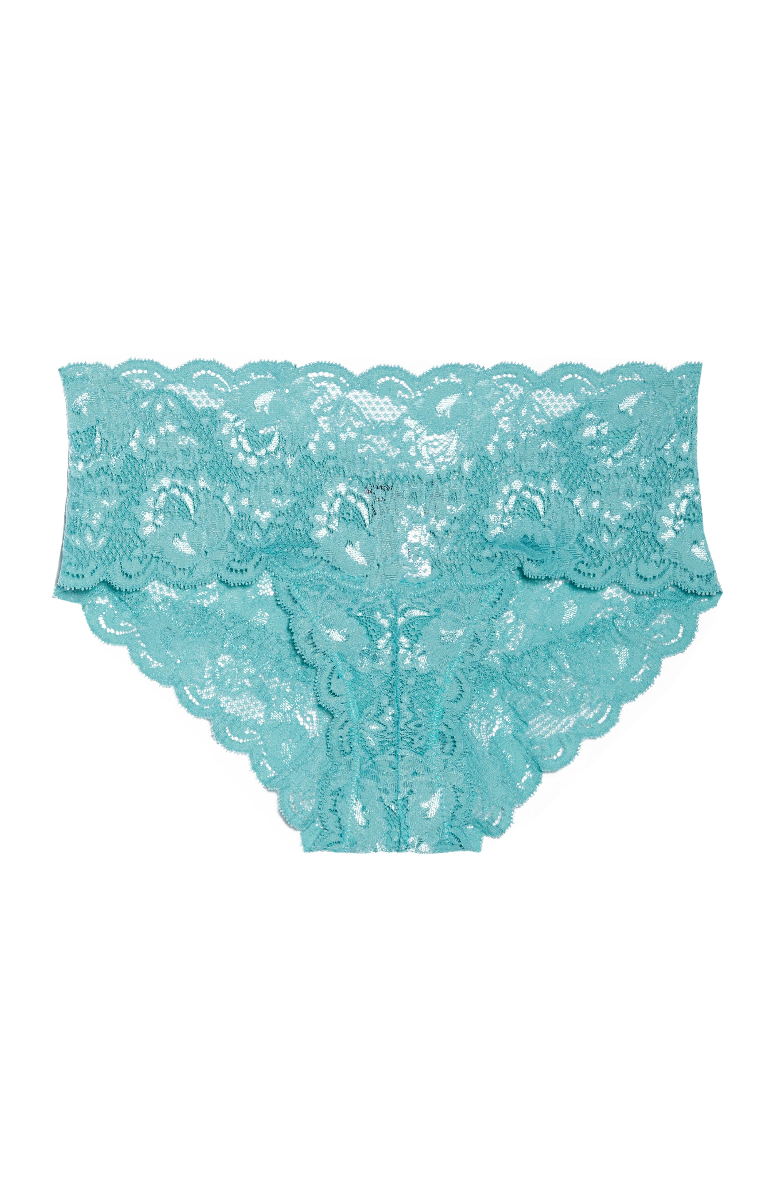 'Never Say Never' Hipster Briefs,                             Alternate thumbnail 7, color,                             Dusty Turquoise