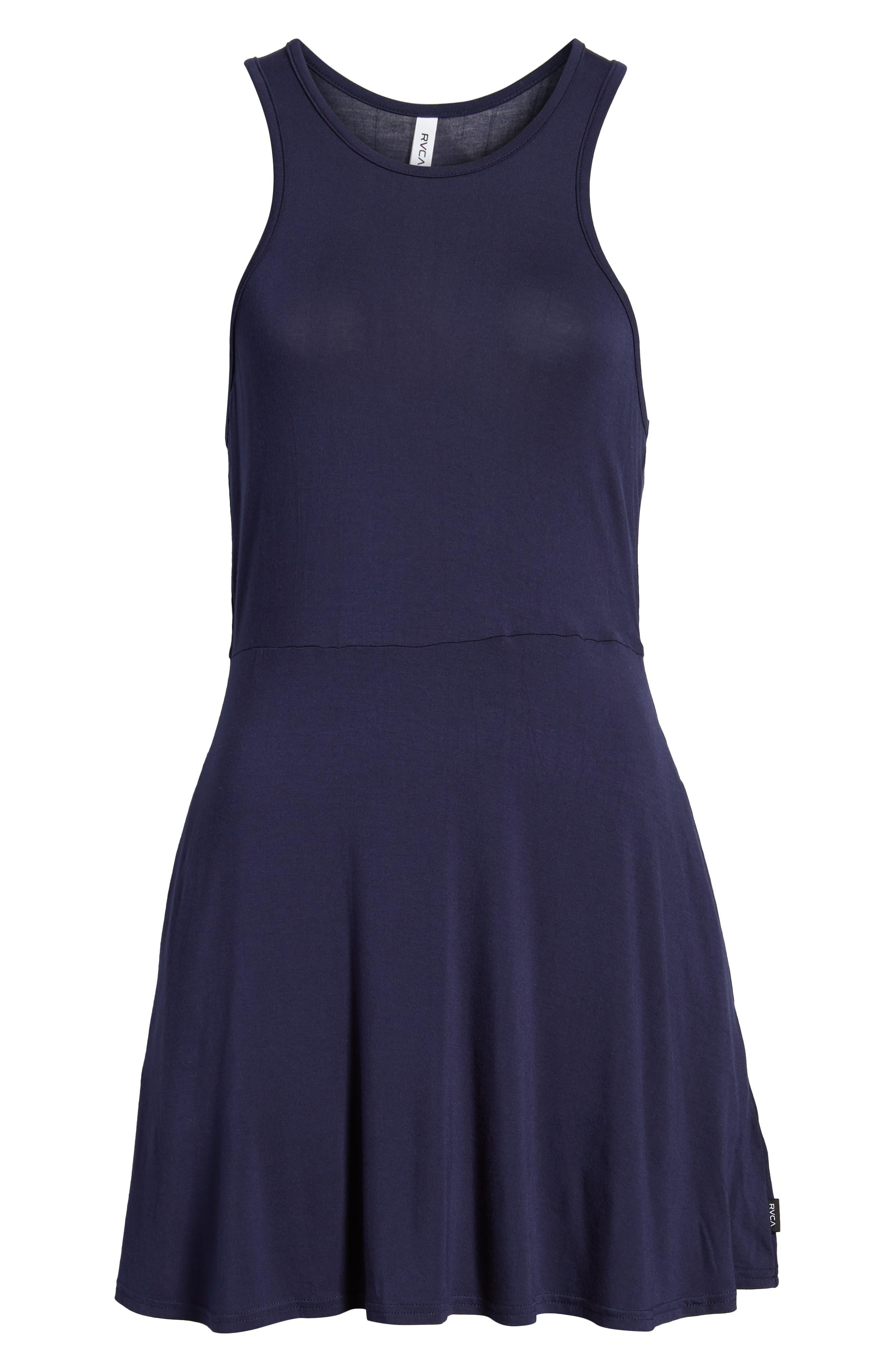 Iris Racerback Dress,                             Alternate thumbnail 7, color,                             Shady Blue