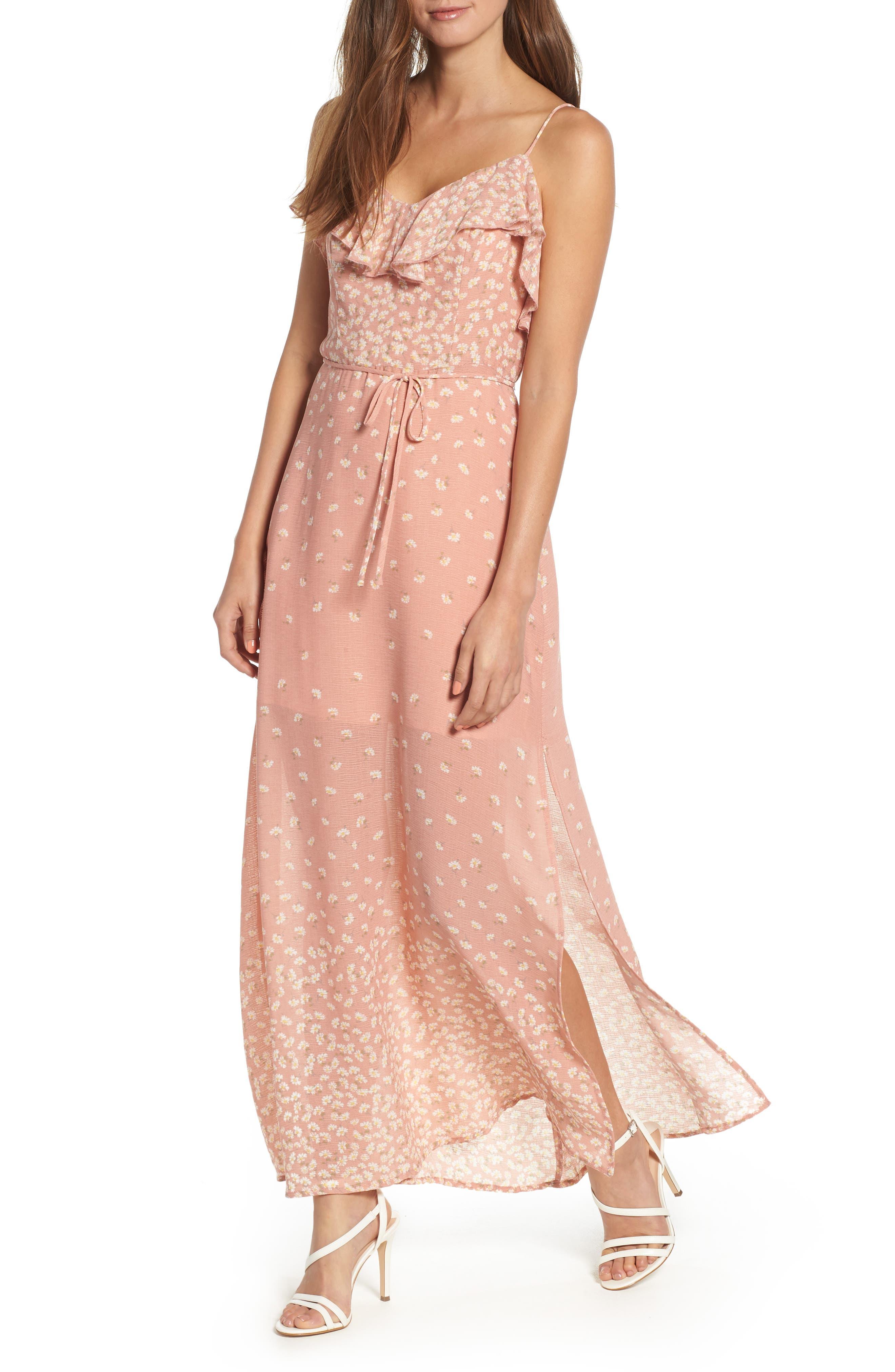 JUNE & HUDSON FLORAL MAXI DRESS