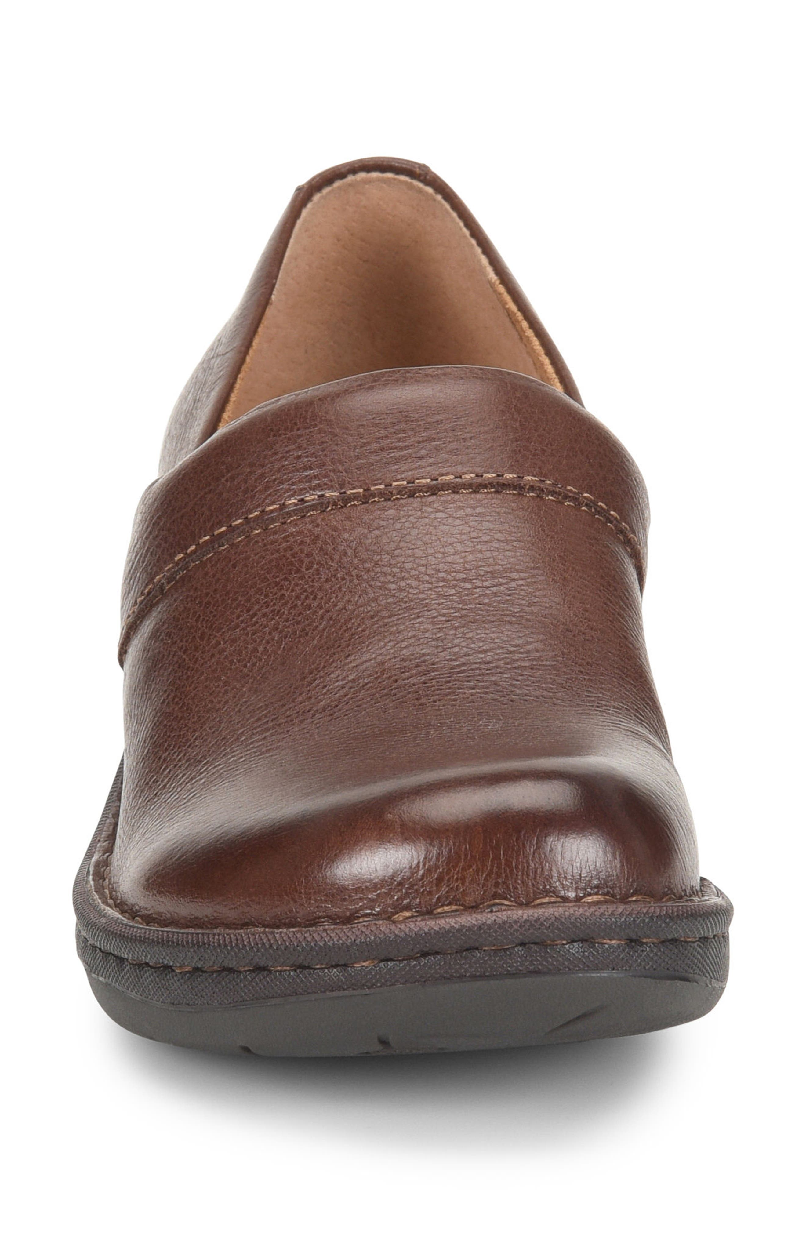 Toby Duo Clog,                             Alternate thumbnail 4, color,                             Chocolate Leather
