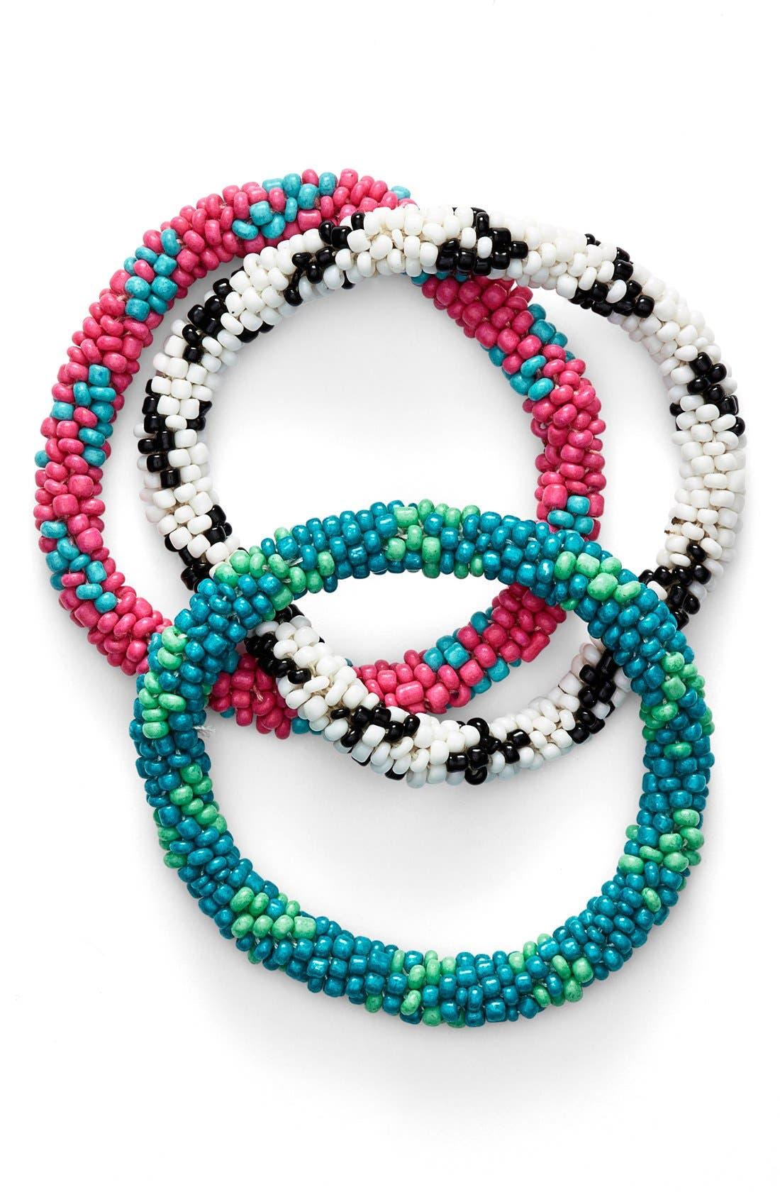 Main Image - Spring Street Stretch Bracelets (Set of 3)