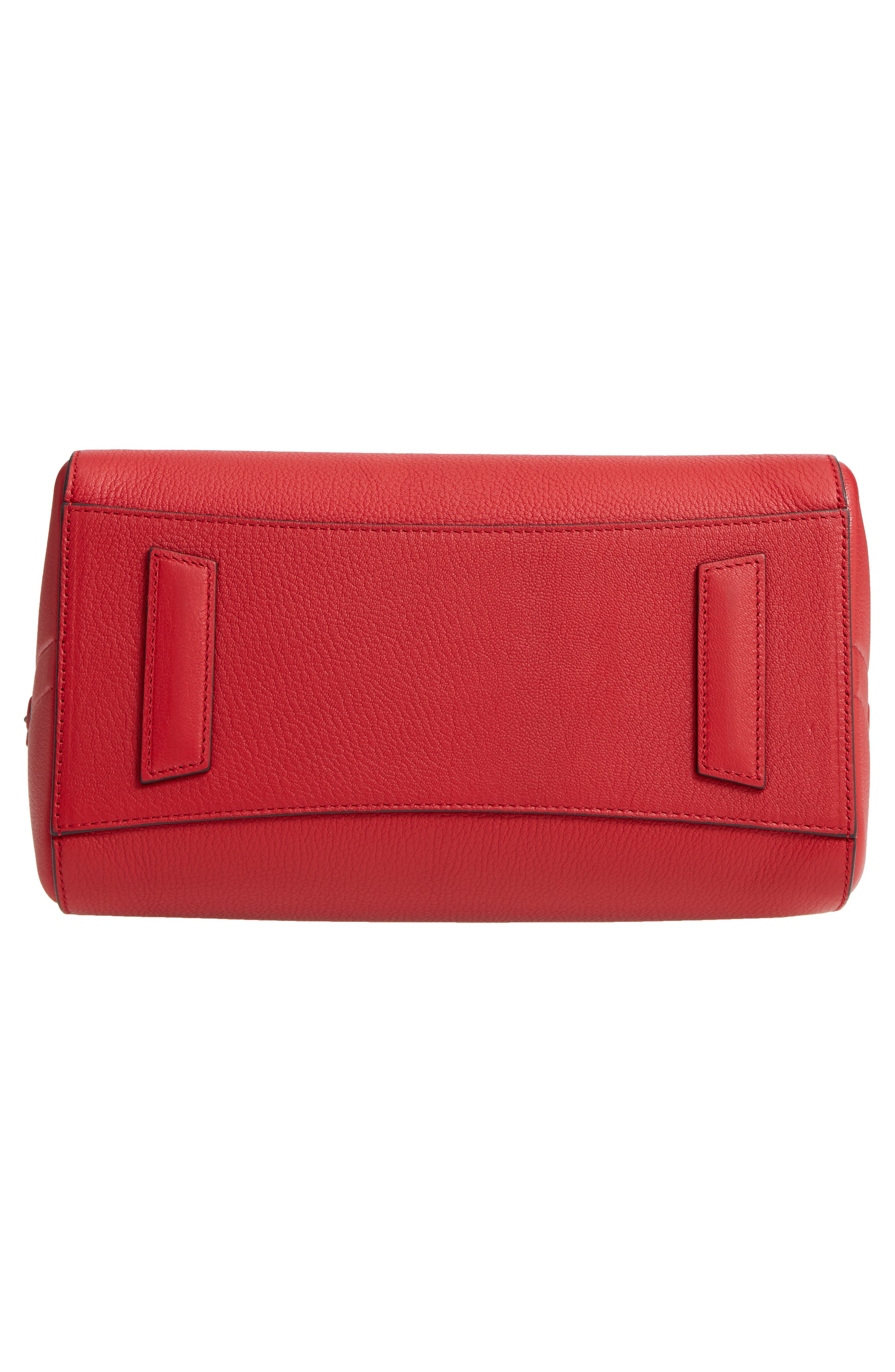 'Small Antigona' Leather Satchel,                             Alternate thumbnail 5, color,                             Bright Red