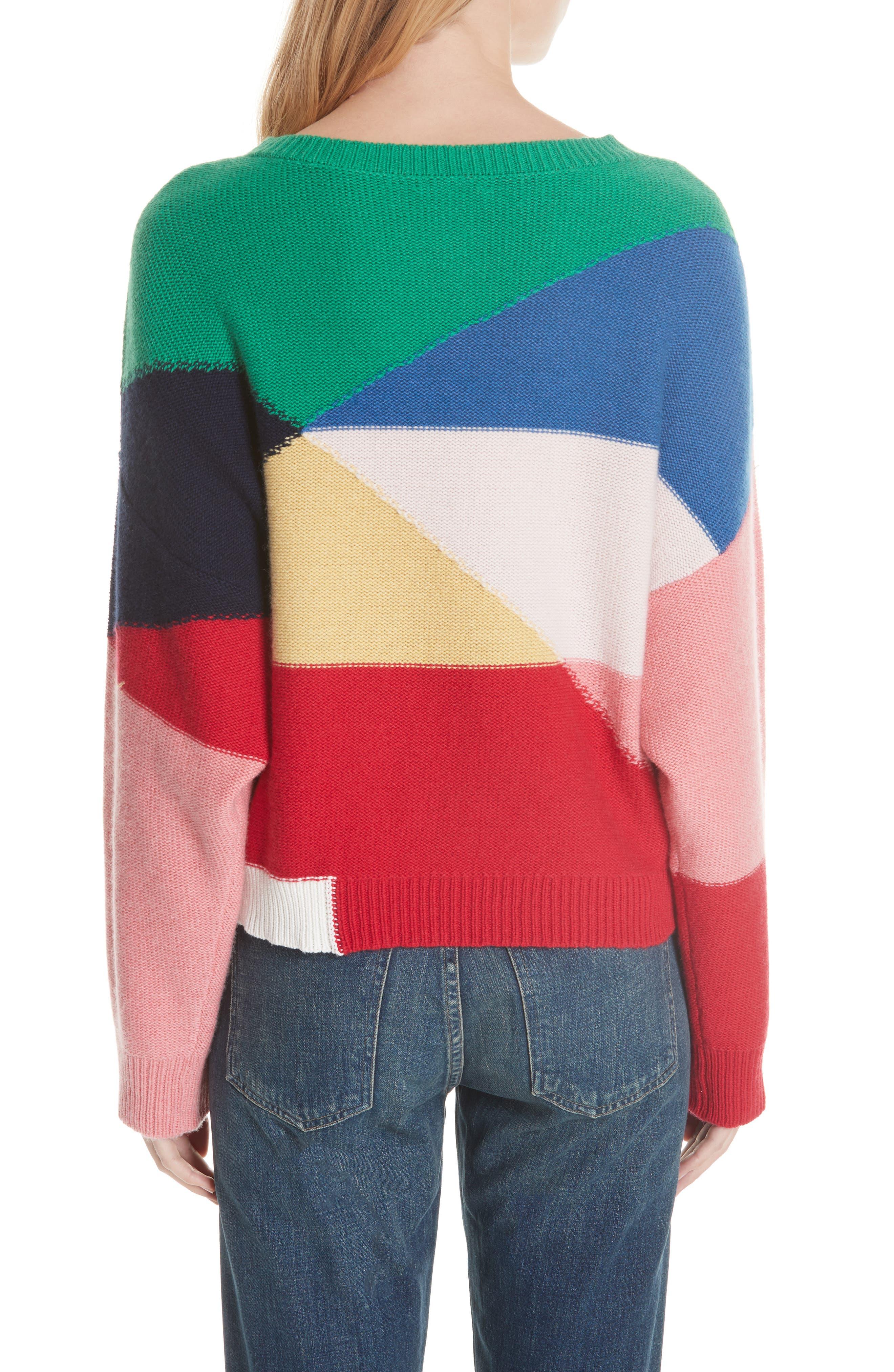 Megu Colorblock Wool & Cashmere Sweater,                             Alternate thumbnail 2, color,                             Multi
