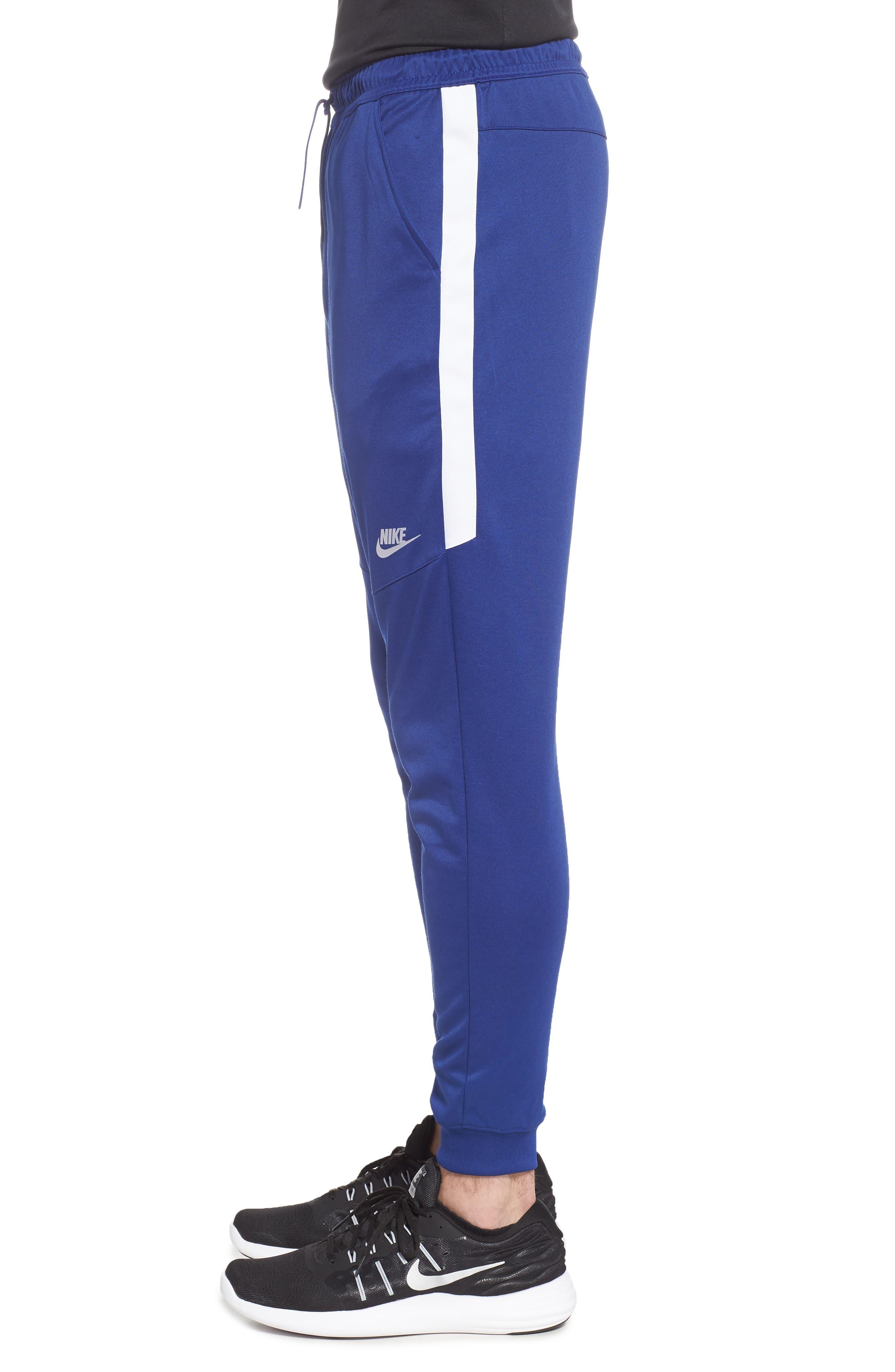 Tribute Jogger Pants,                             Alternate thumbnail 3, color,                             Deep Royal Blue/ White/ White
