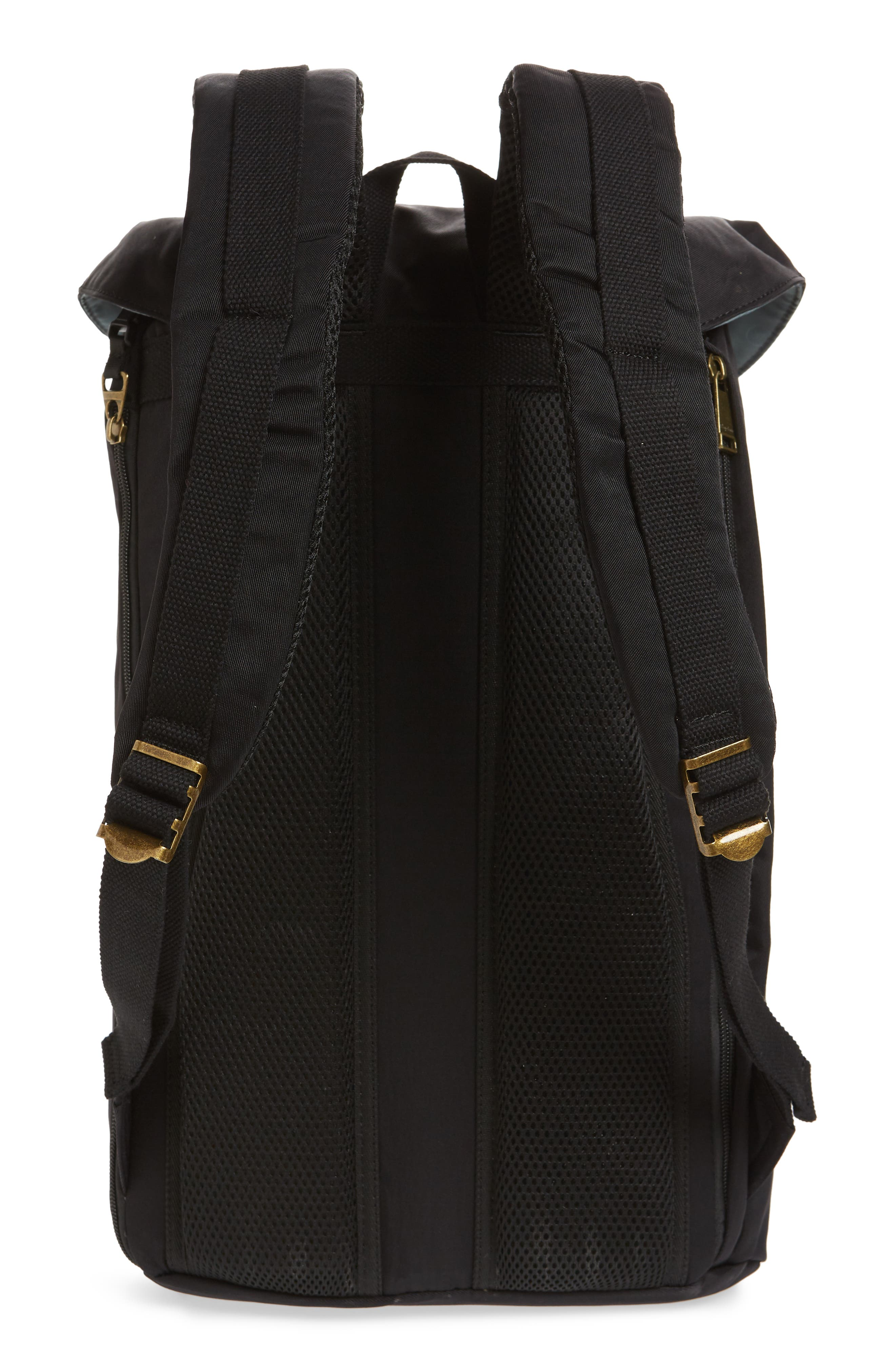 Heritage Water Repellent Backpack,                             Alternate thumbnail 3, color,                             Black