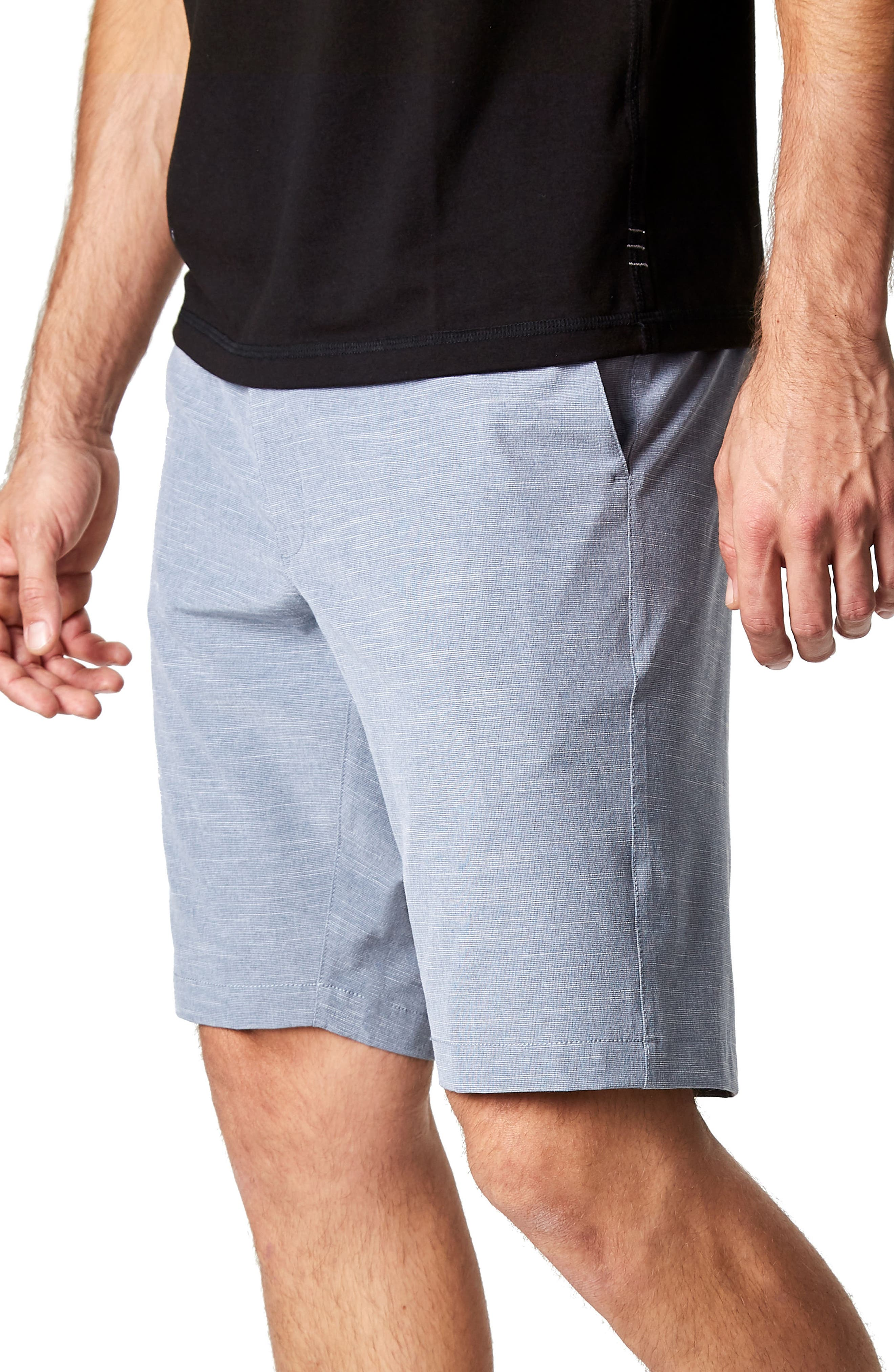 Existence Stretch Shorts,                             Alternate thumbnail 3, color,                             Slate