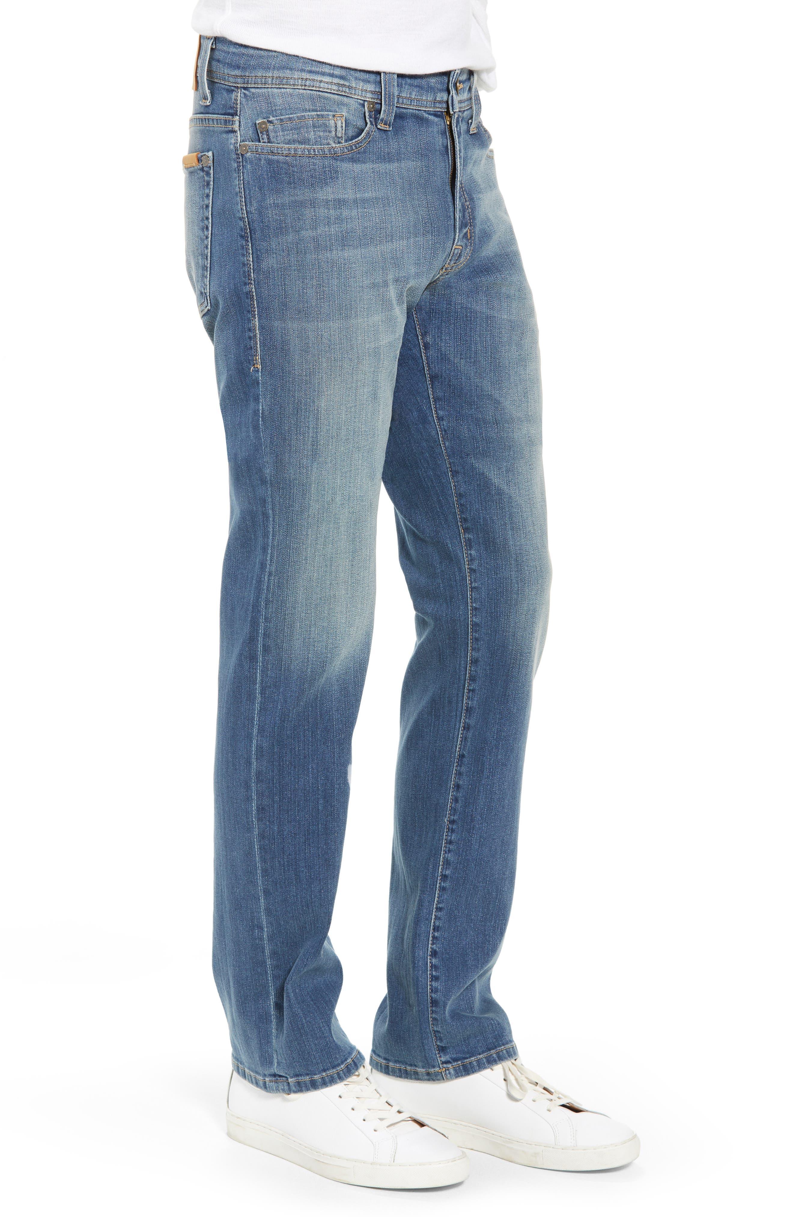 Jimmy Slim Straight Leg Jeans,                             Alternate thumbnail 3, color,                             Syndicate Blue