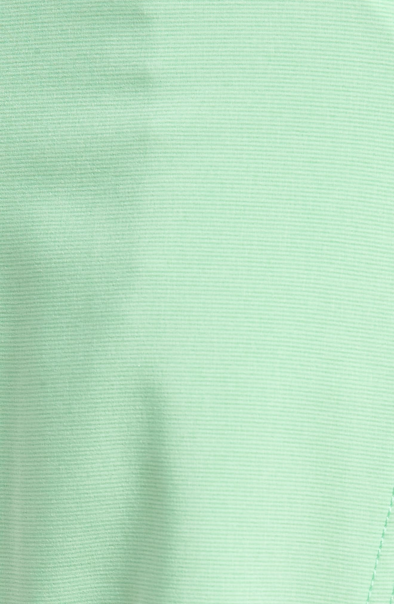 Lido Mod Board Shorts,                             Alternate thumbnail 5, color,                             Poison Green