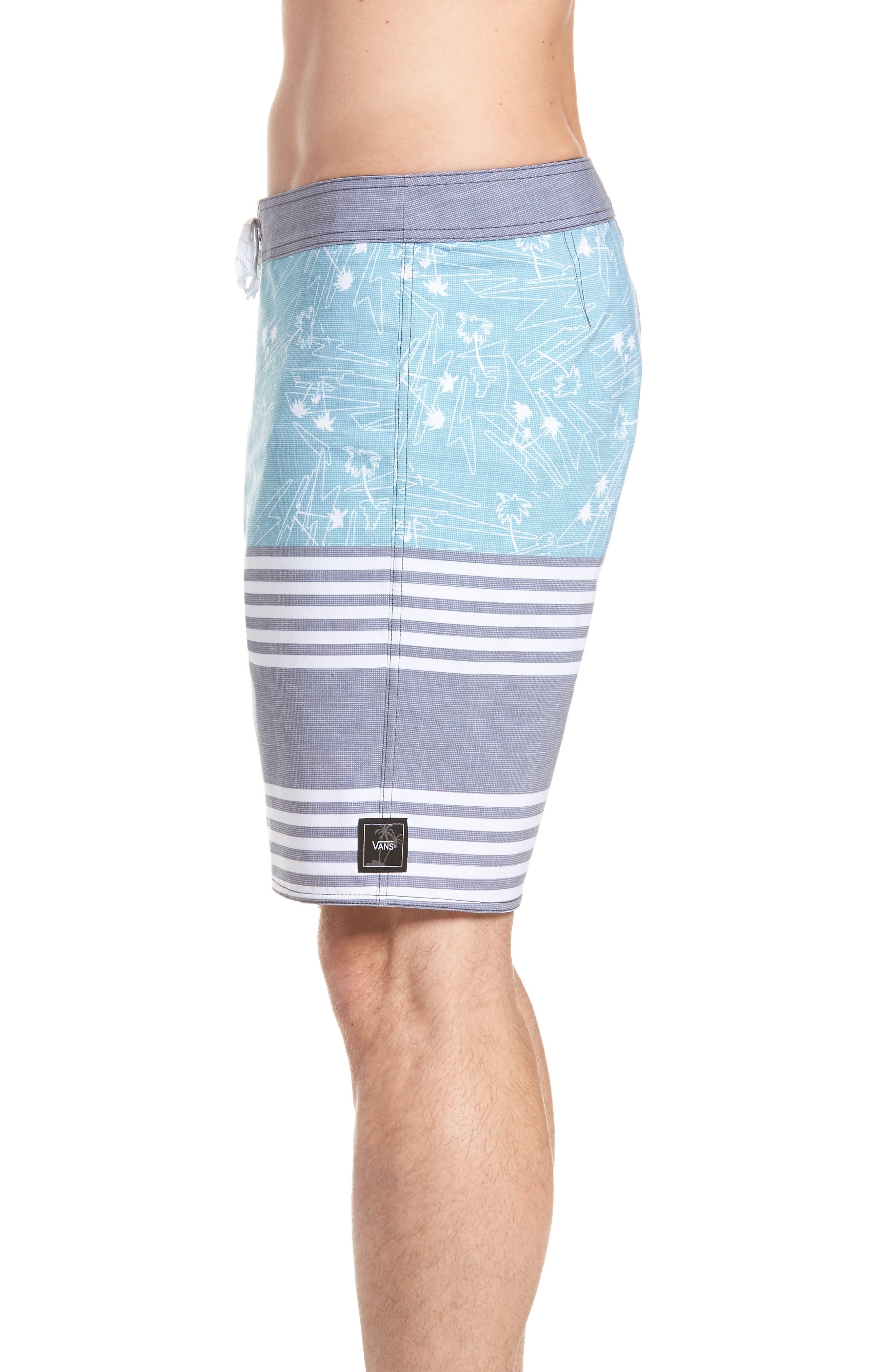 Era Board Shorts,                             Alternate thumbnail 4, color,                             Dress Blues Island Beach