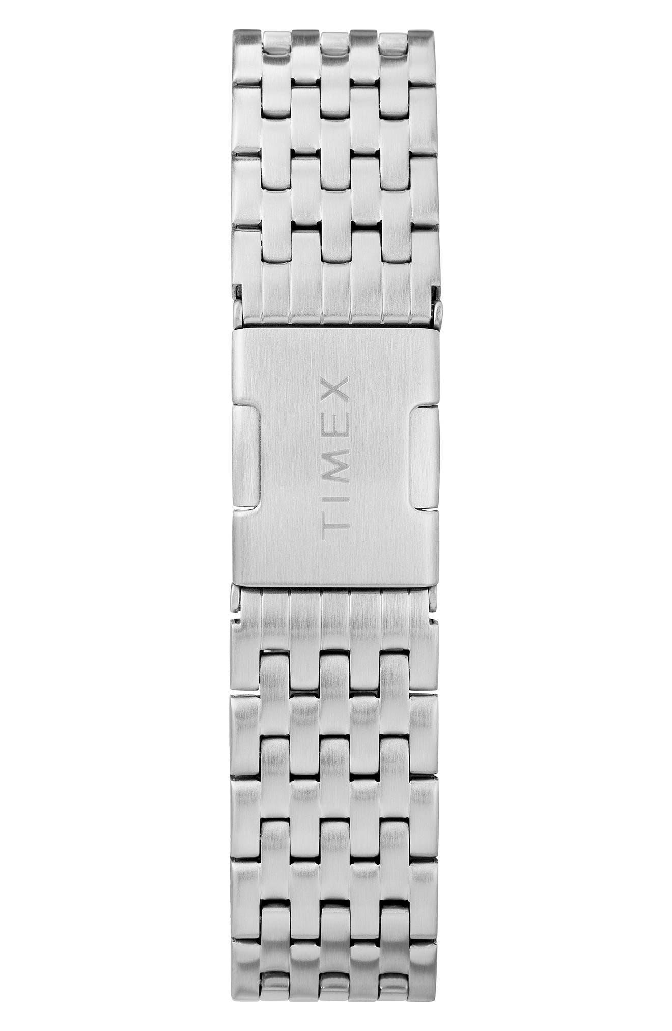 Waterbury Bracelet Watch, 36mm,                             Alternate thumbnail 3, color,                             Silver/ White/ Silver