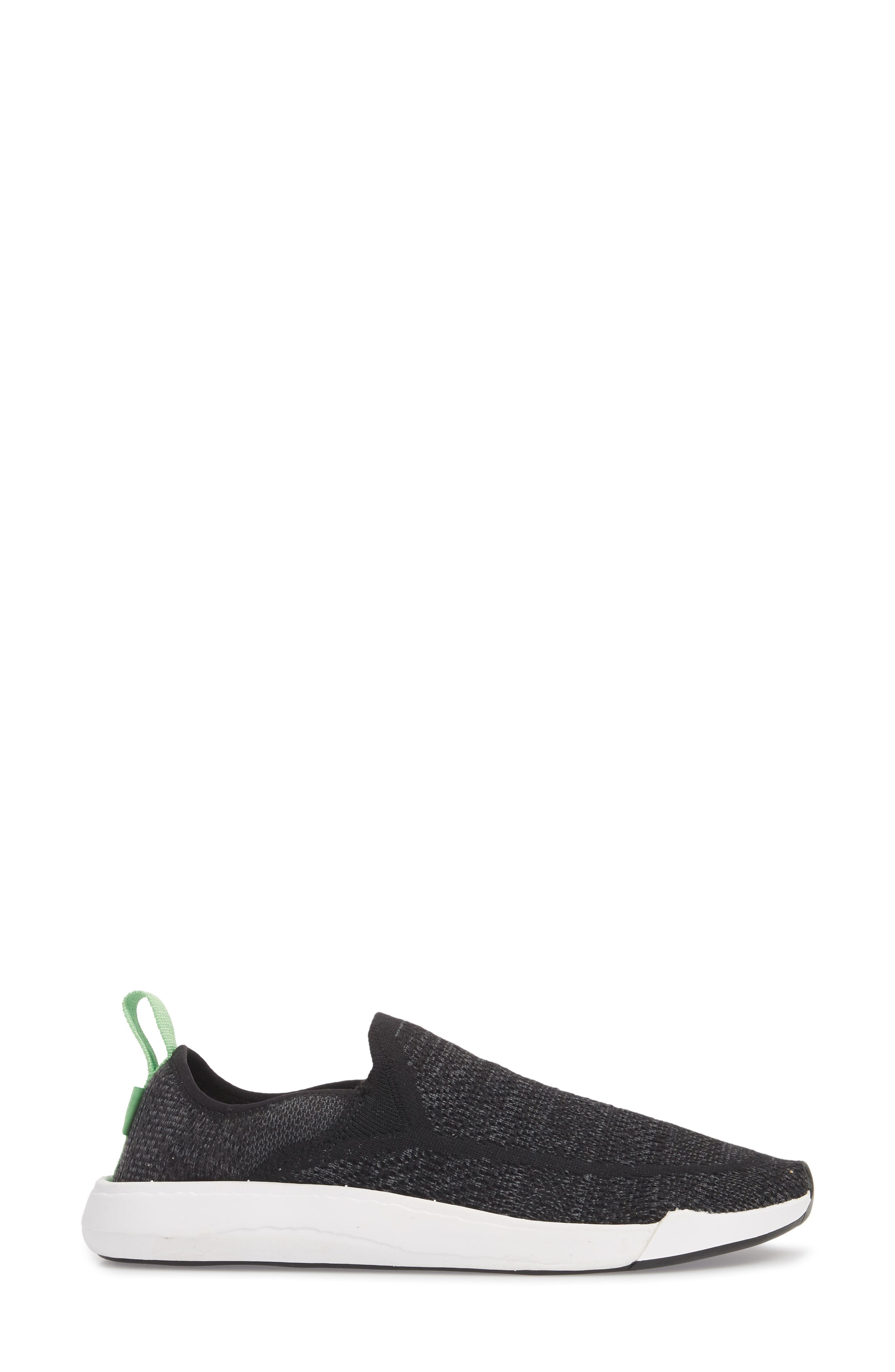 Chiba Quest Knit Slip-On Sneaker,                             Alternate thumbnail 3, color,                             Black